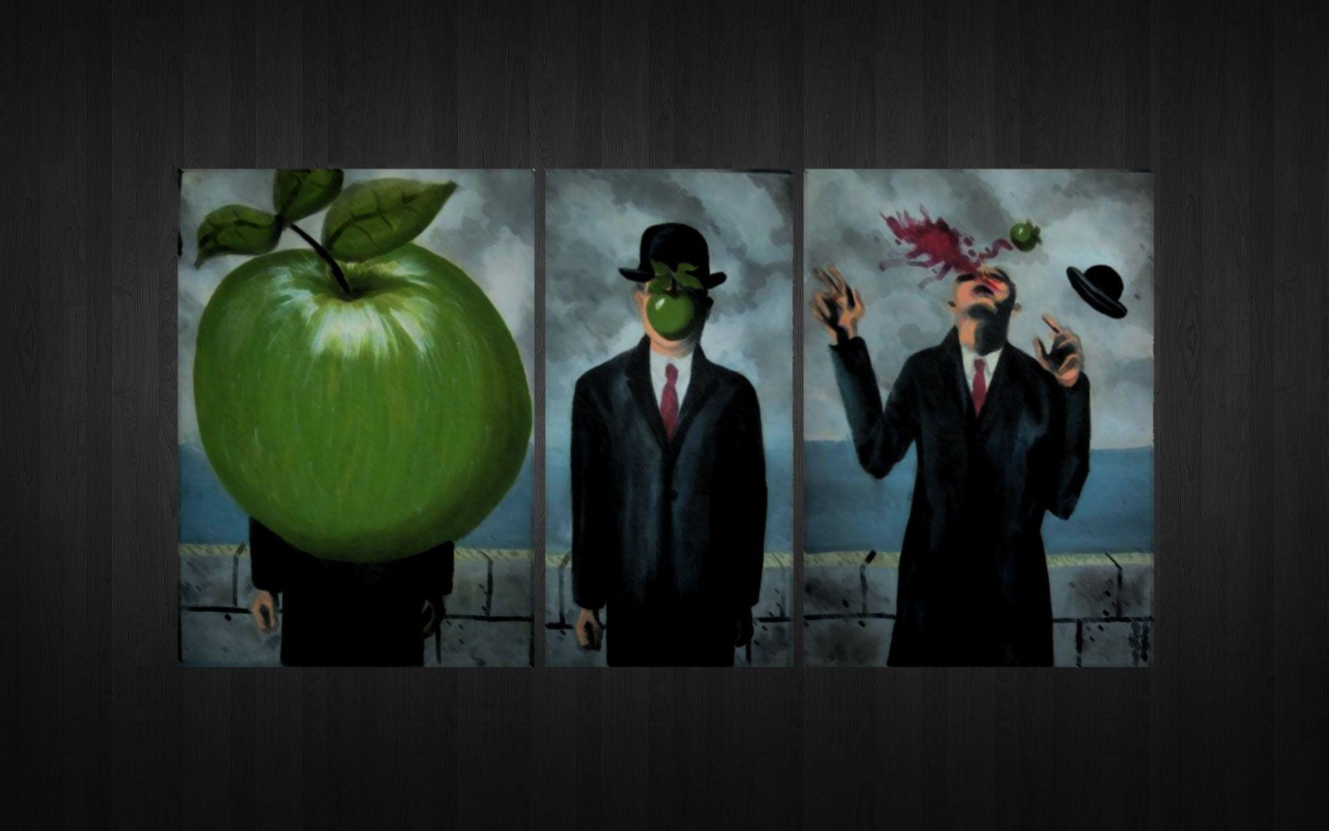 Res: 1920x1200, The Images of Parody Rene Magritte Son Of Man Fresh HD Wallpaper .