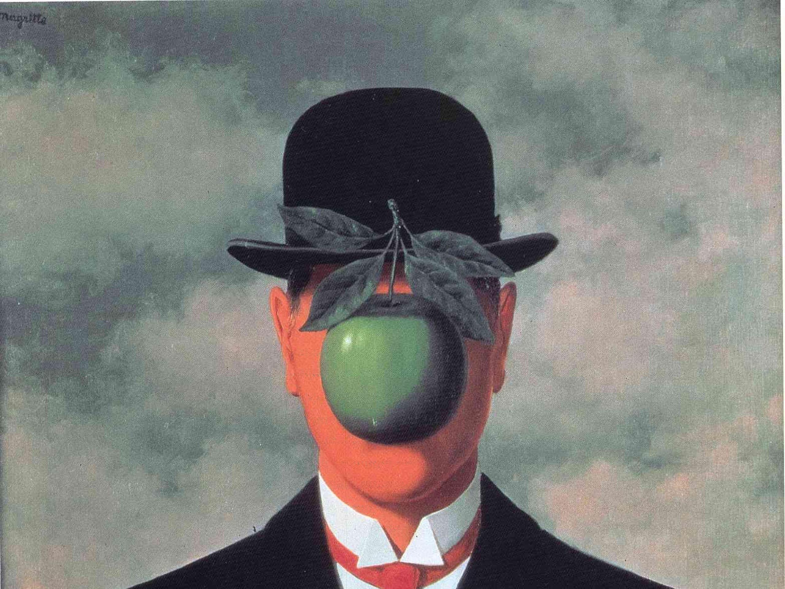 Res: 2560x1920, rene magritte son of man 1568x1938 wallpaper Art HD Wallpaper