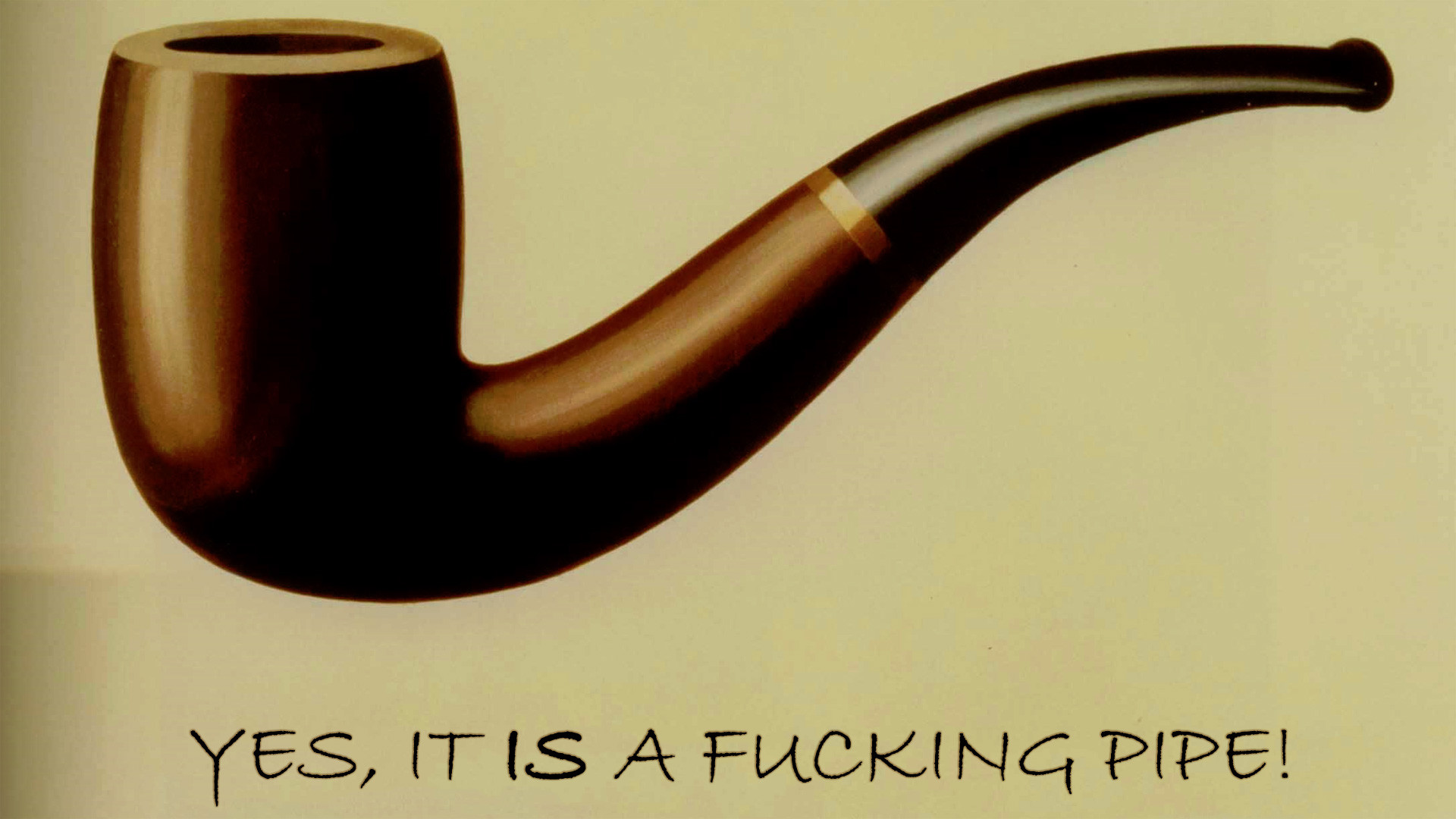 Res: 1920x1080, René Magritte, Pipes, Parody Wallpapers HD / Desktop and Mobile Backgrounds