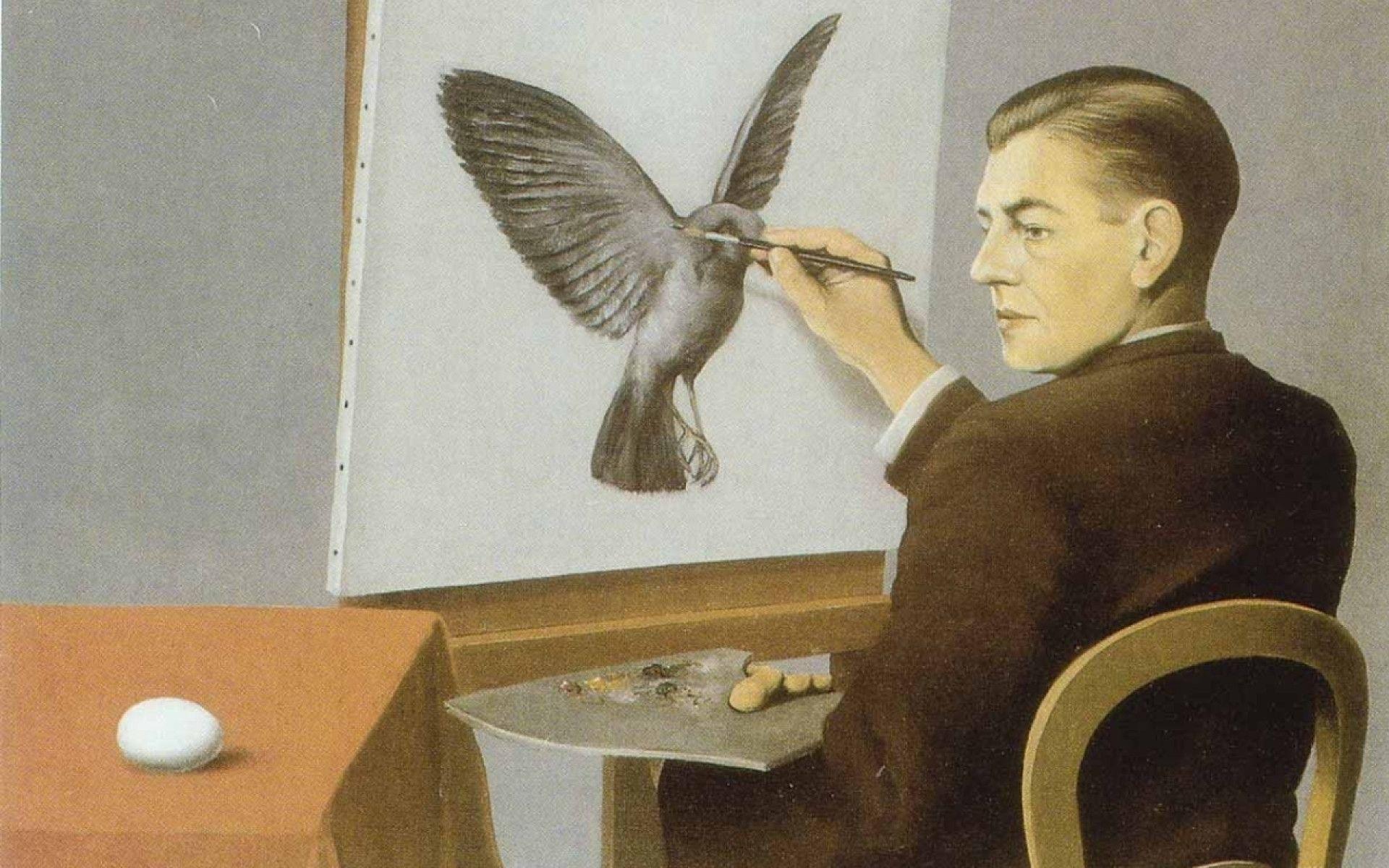 Res: 1920x1200, paintings self portrait painters rene magritte wallpaper   Wallpaper