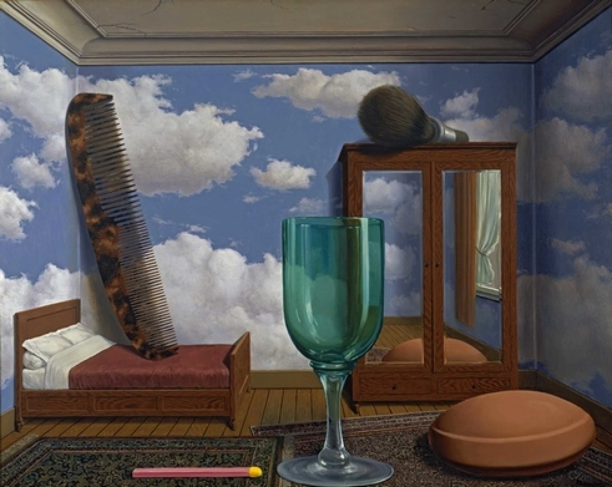 """Res: 2000x1593, René Magritte: """"Personal values"""" (1952). Oil on canvas, 77"""