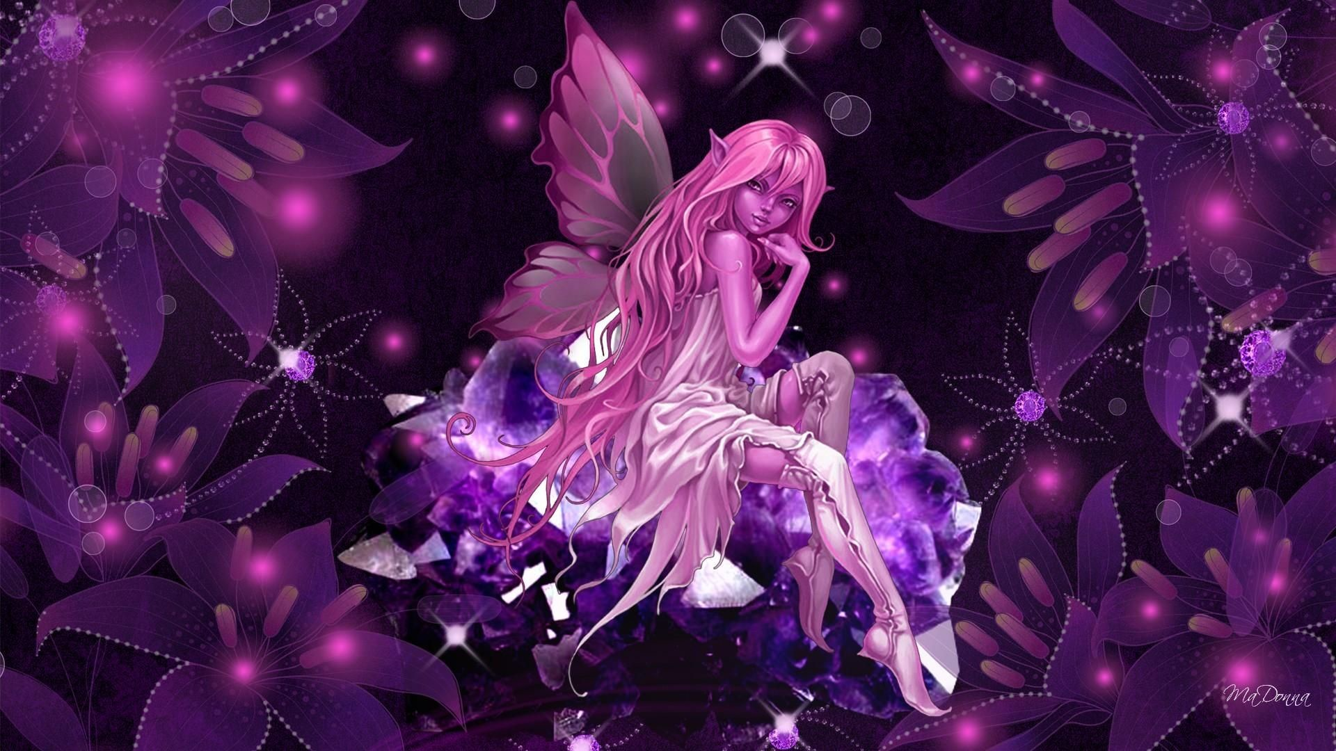Res: 1920x1080, Butterfly Fairy Wallpaper | HD Pink Crystal Fairy Wallpaper