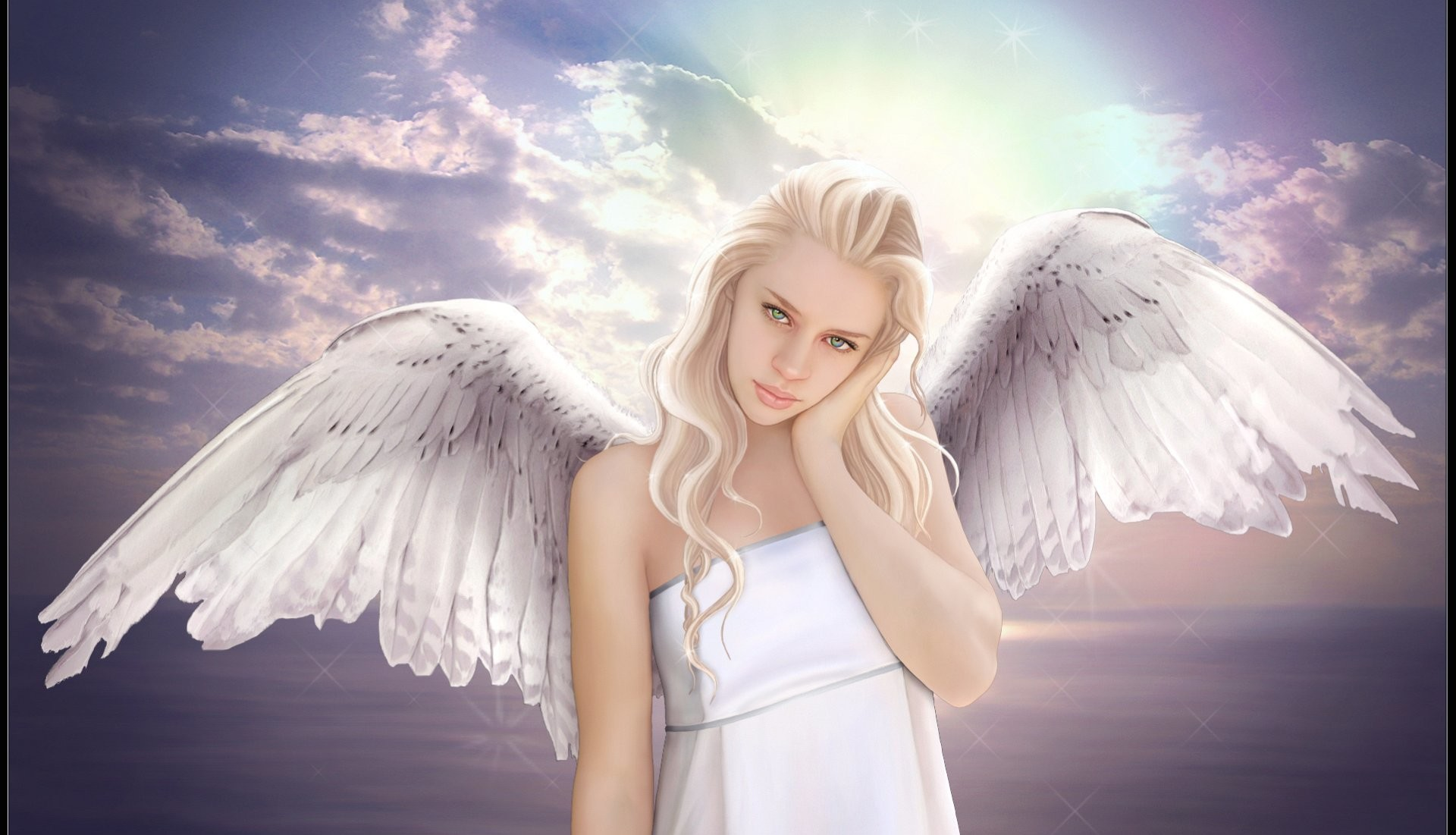 Res: 1920x1101, ... wallpaper-blonde-angel-fantasy.jpg ...