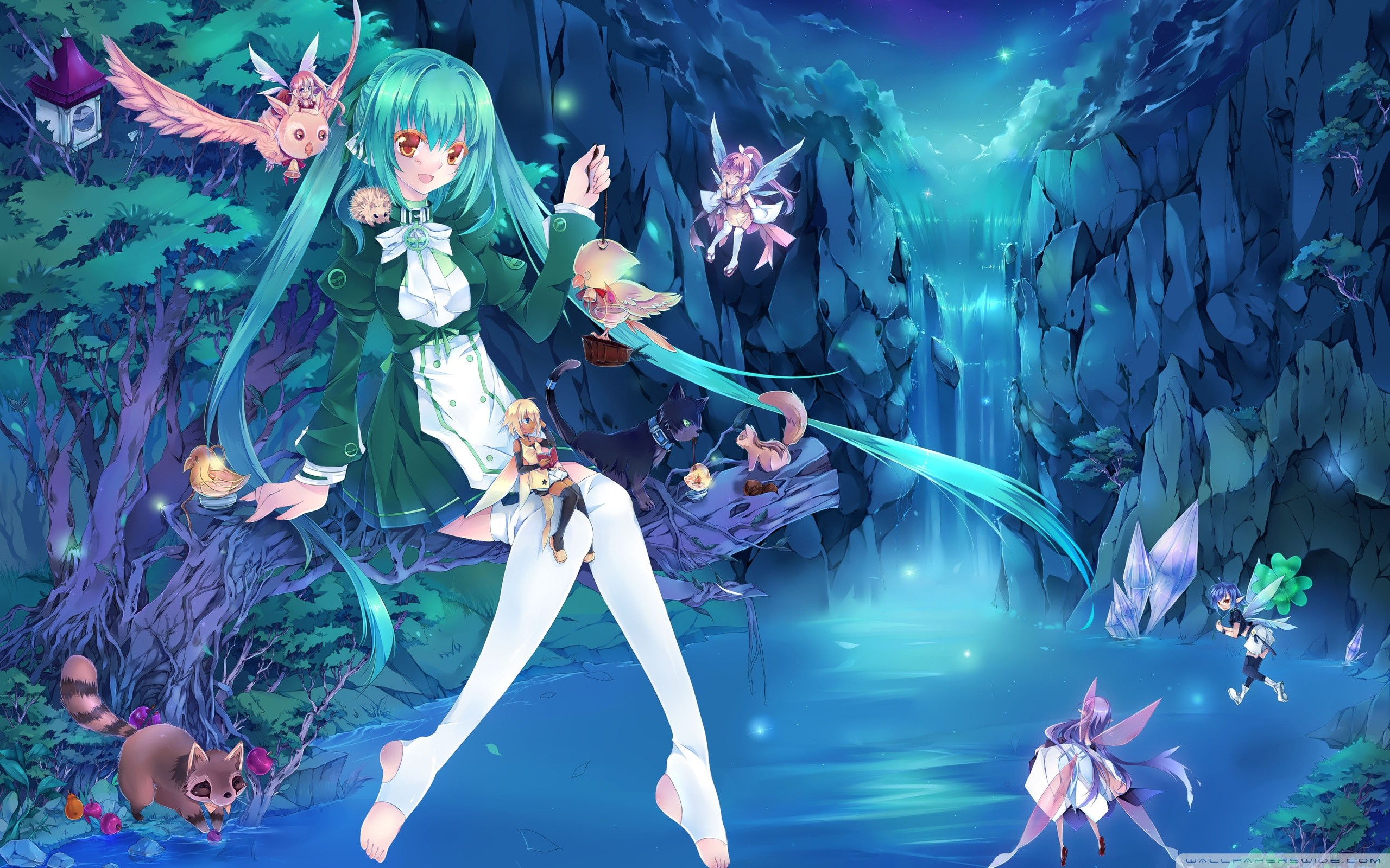 Res: 2560x1600, Anime Fairies HD desktop wallpaper : High Definition : Mobile