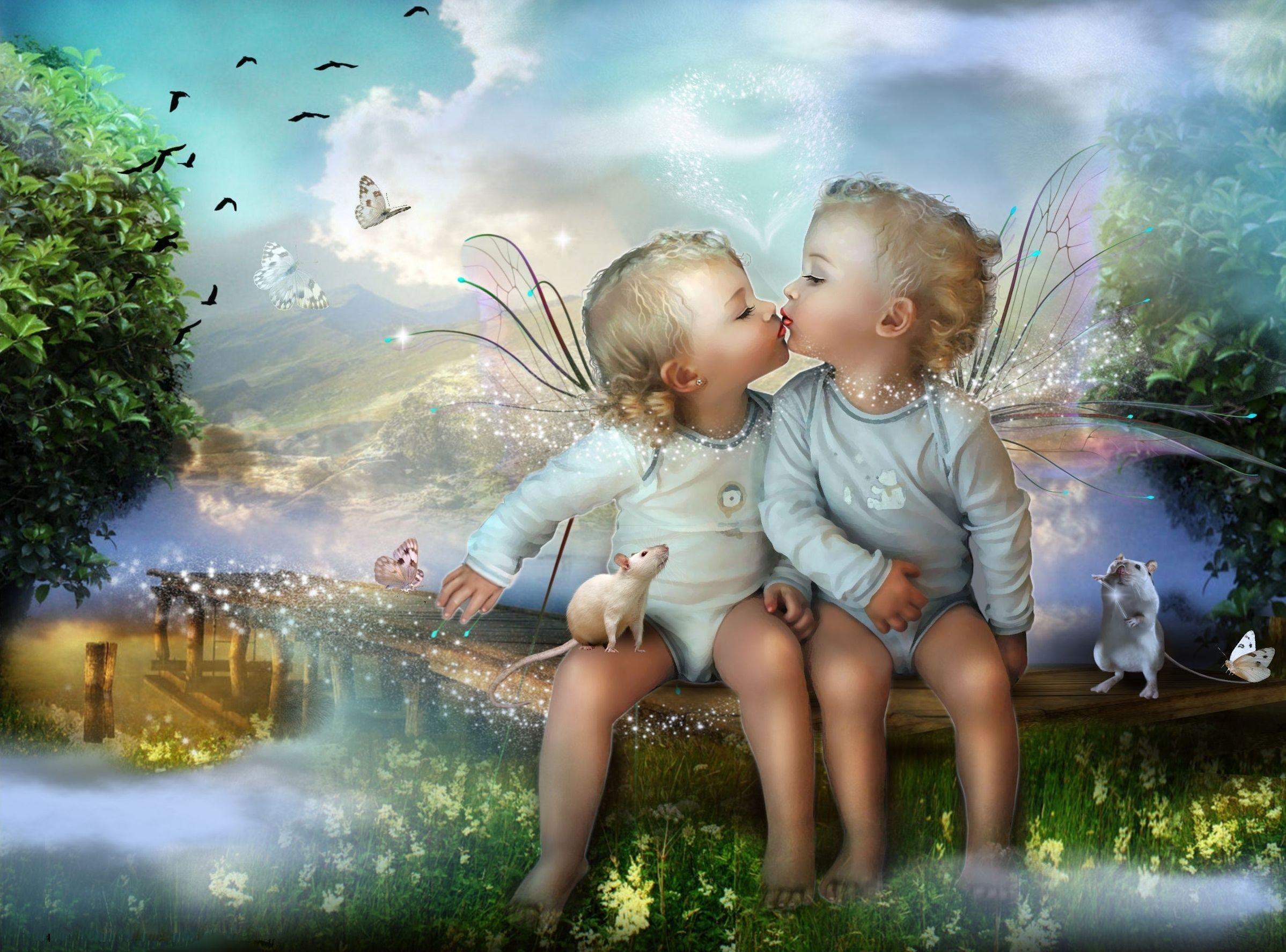 Res: 2397x1775, Cute Fairy Baby