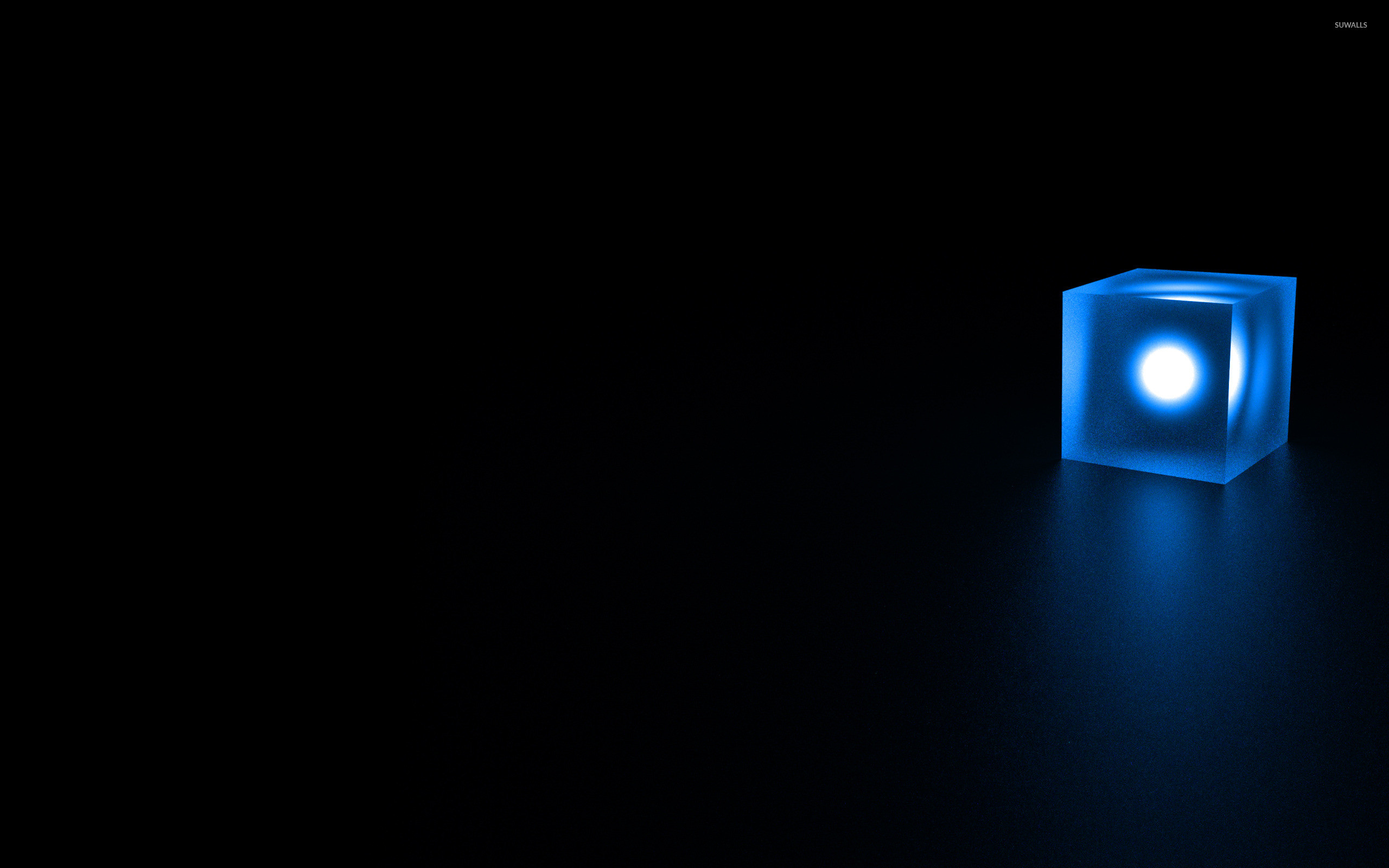 Res: 2560x1600, Glowing cube wallpaper