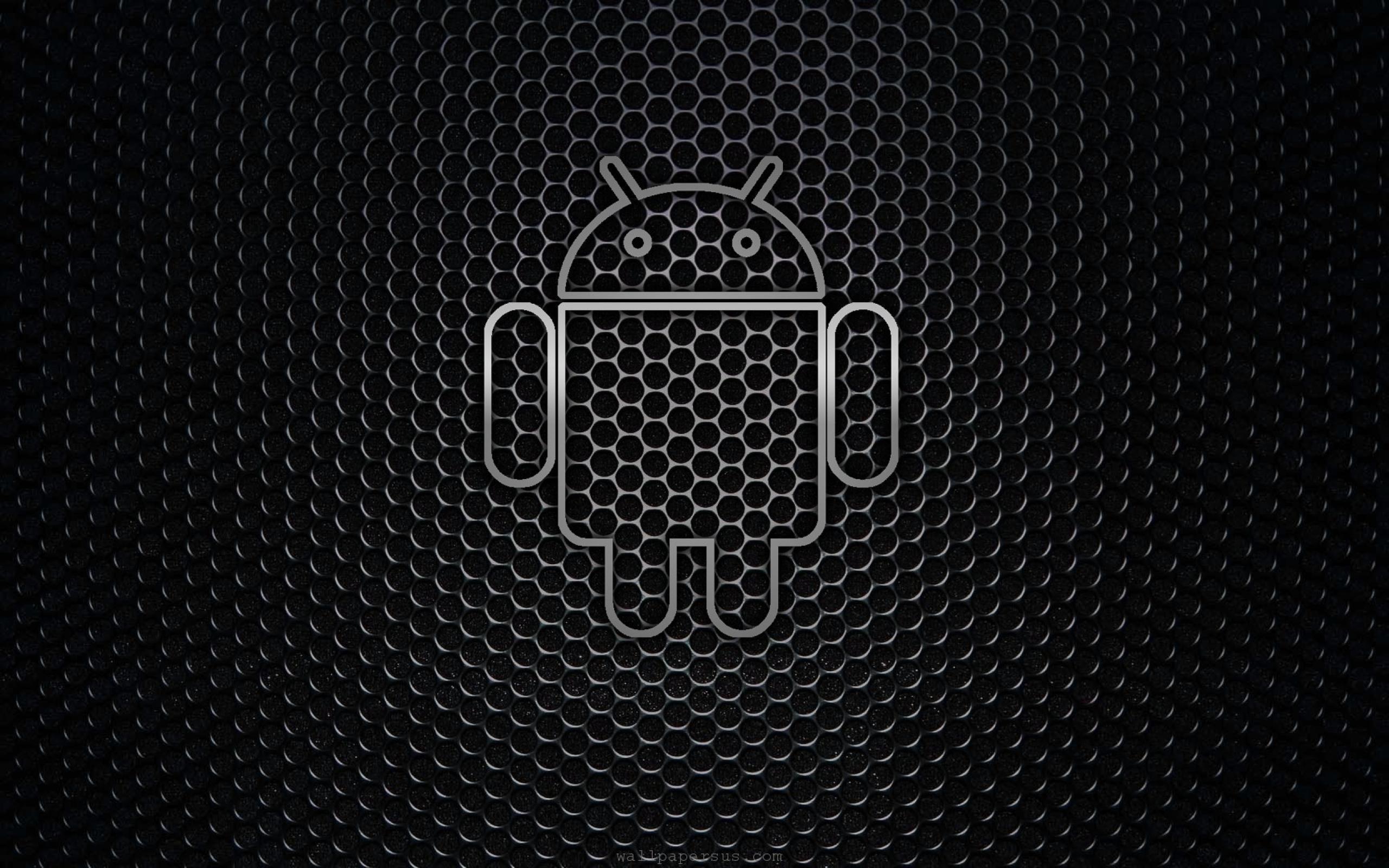 Res: 2560x1600,  Desktop android black logo background wallpaper - 1013521