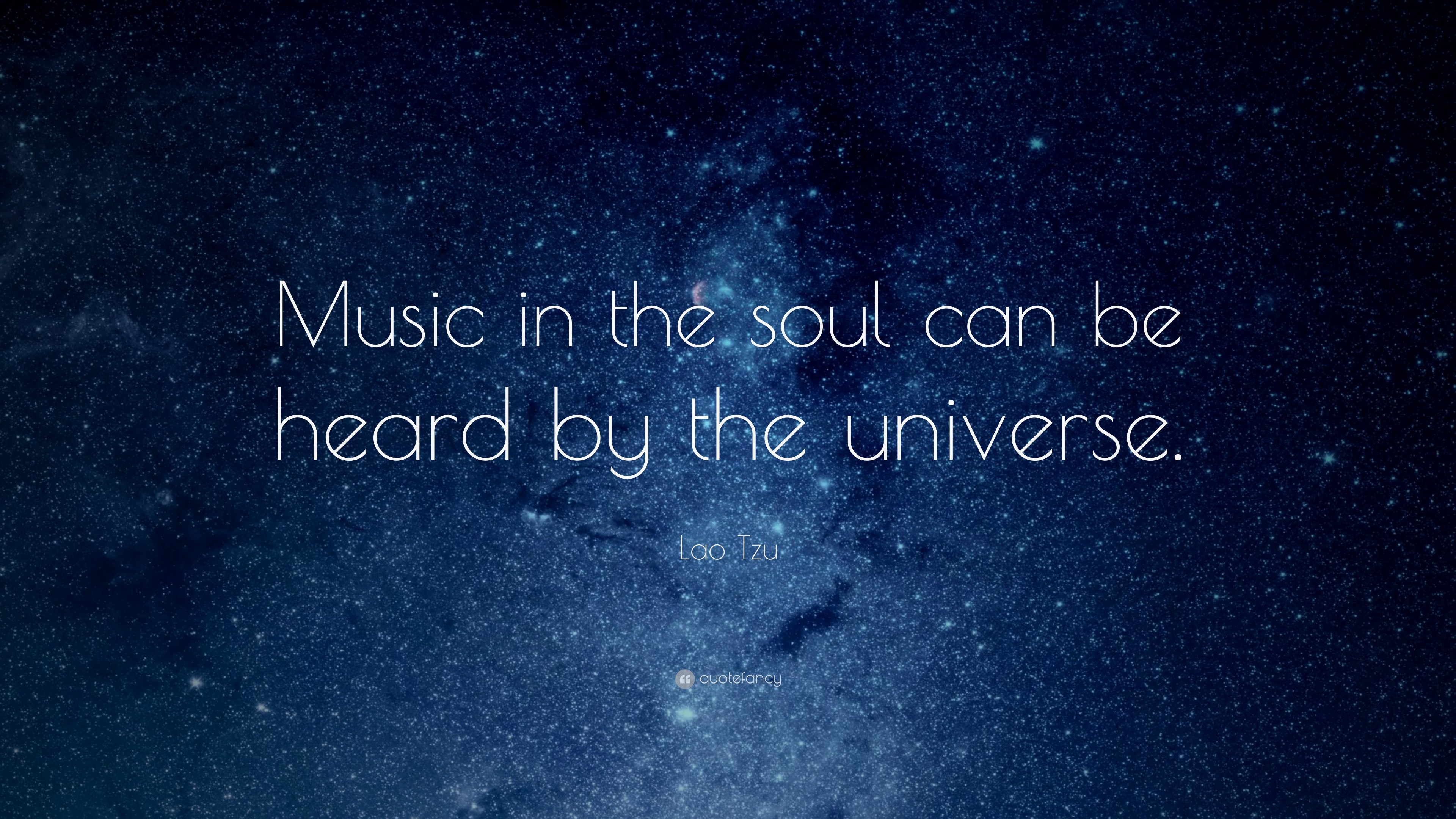 "Res: 3840x2160, Music Quotes: ""Music in the soul can be heard by the universe."""