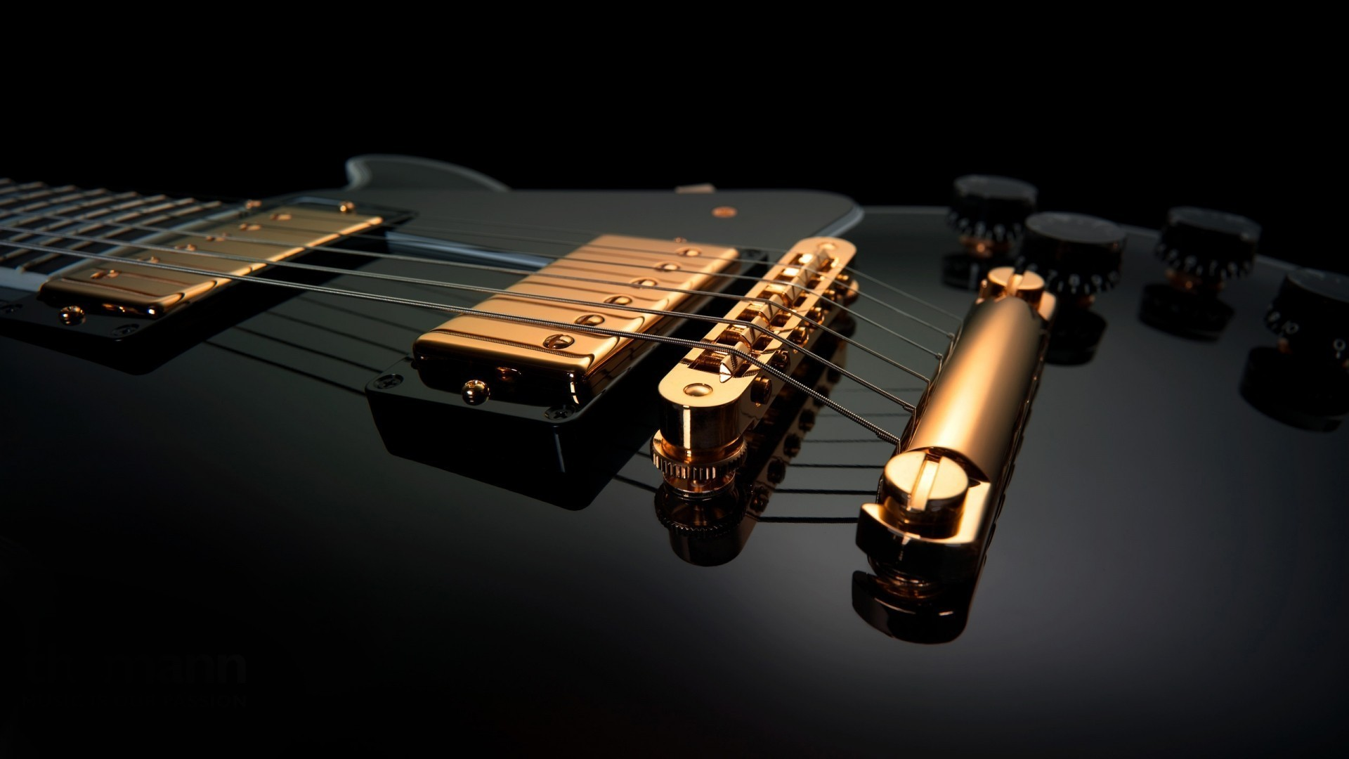 Res: 1920x1080, Black and gold guitars music wallpaper
