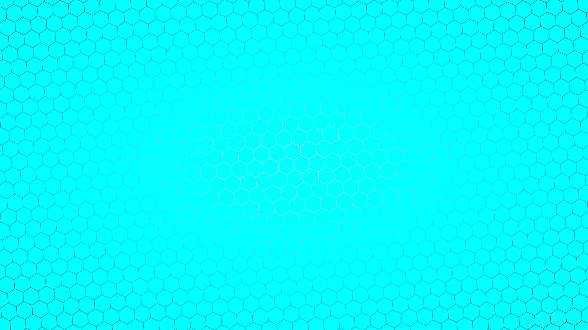 Res: 1920x1080, wallpaper glow hexagon black white blue gradient aqua cyan deep sky blue  #00ffff #ffffff