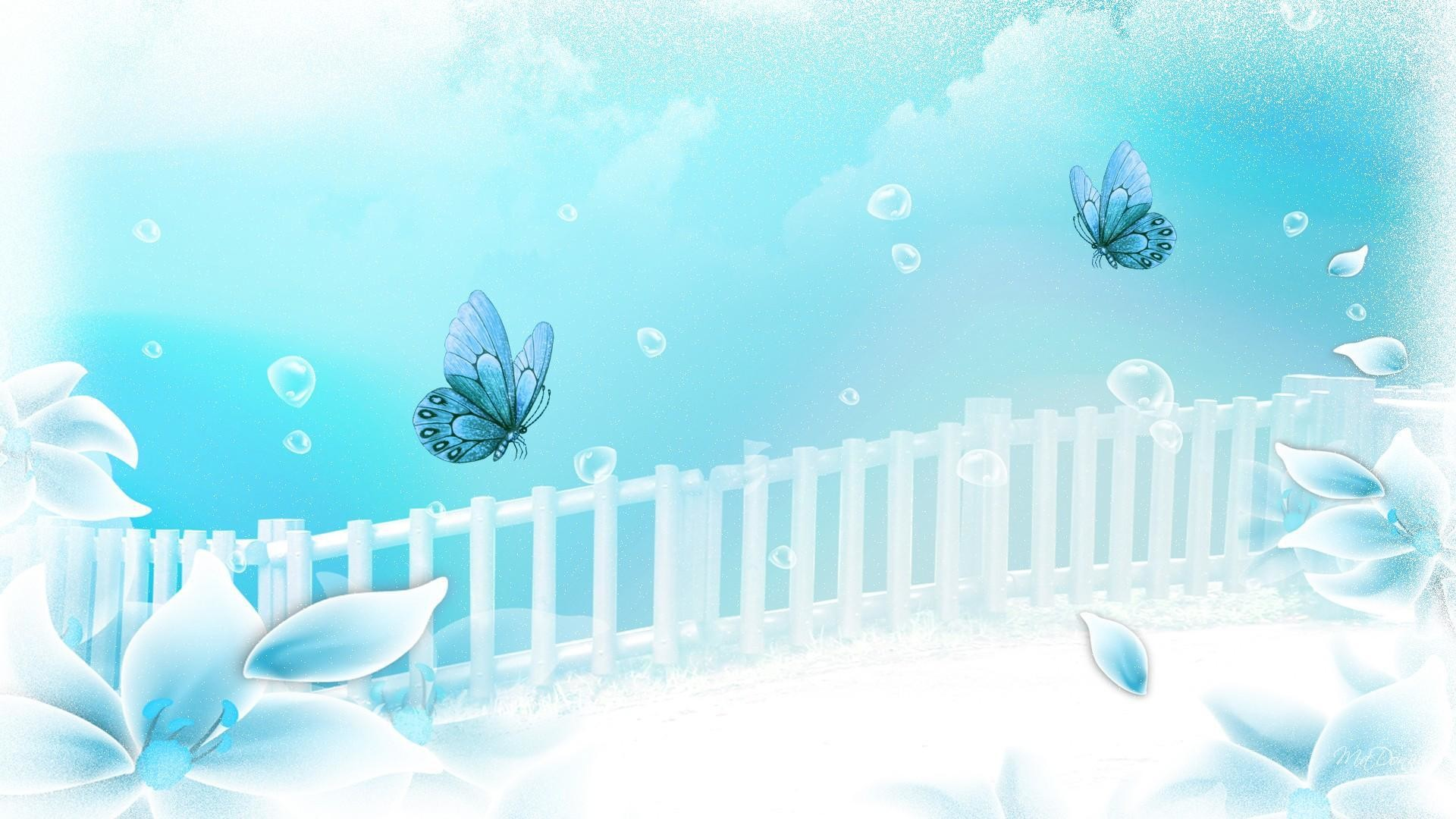 Res: 1920x1080, Aqua Flower Dreamer