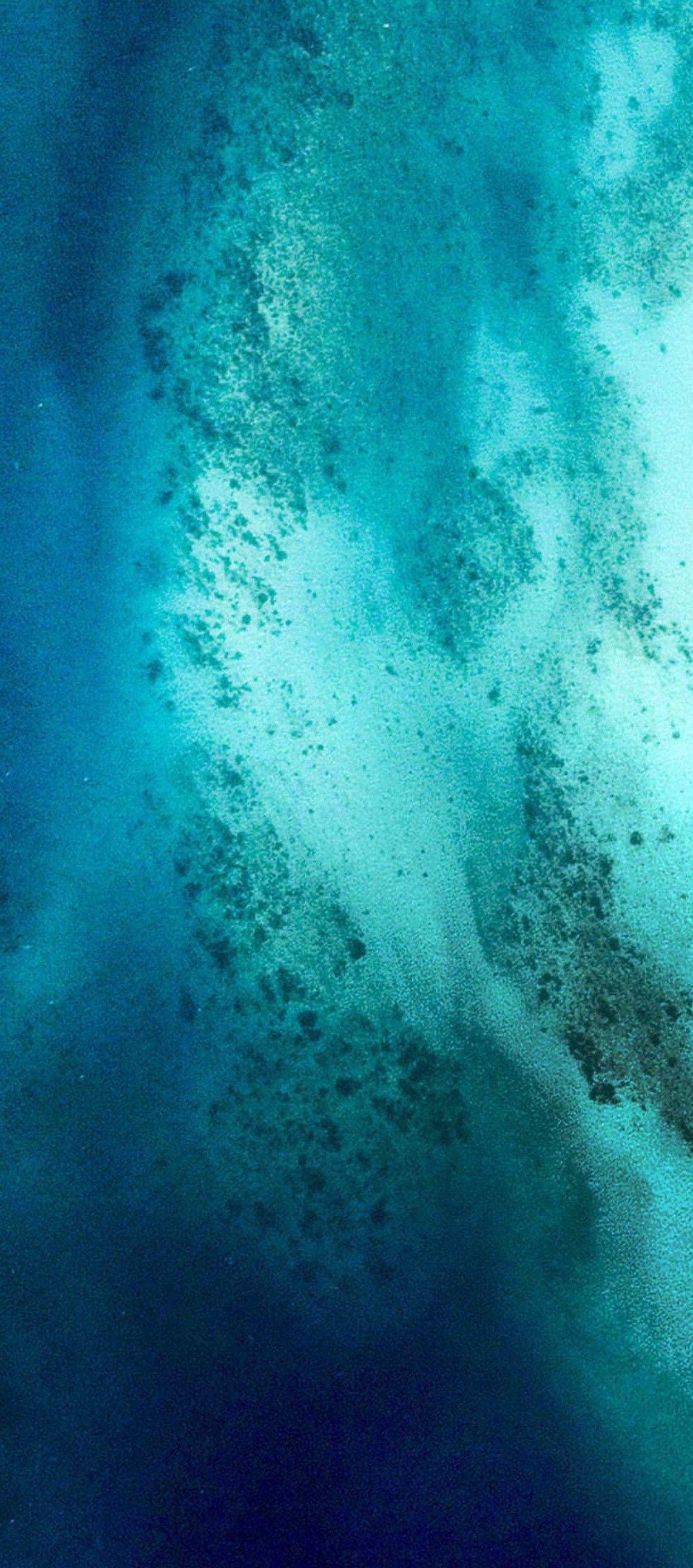 Res: 1242x2809, iOS 11, iPhone X, Aqua, blue, Water, wave, ocean,