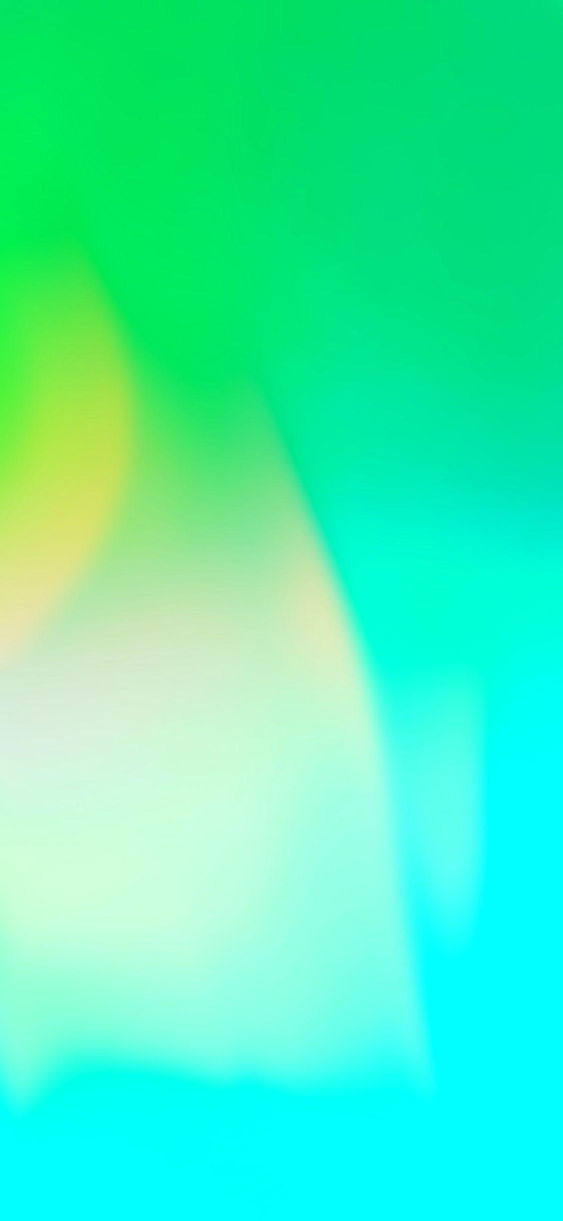 Res: 1125x2436, iOS 11, iPhone X, green, aqua, clean, simple, abstract,