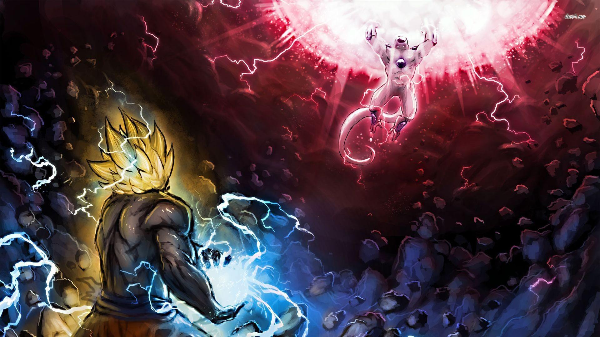 Res: 1920x1080, ... Goku vs Frieza wallpaper  ...