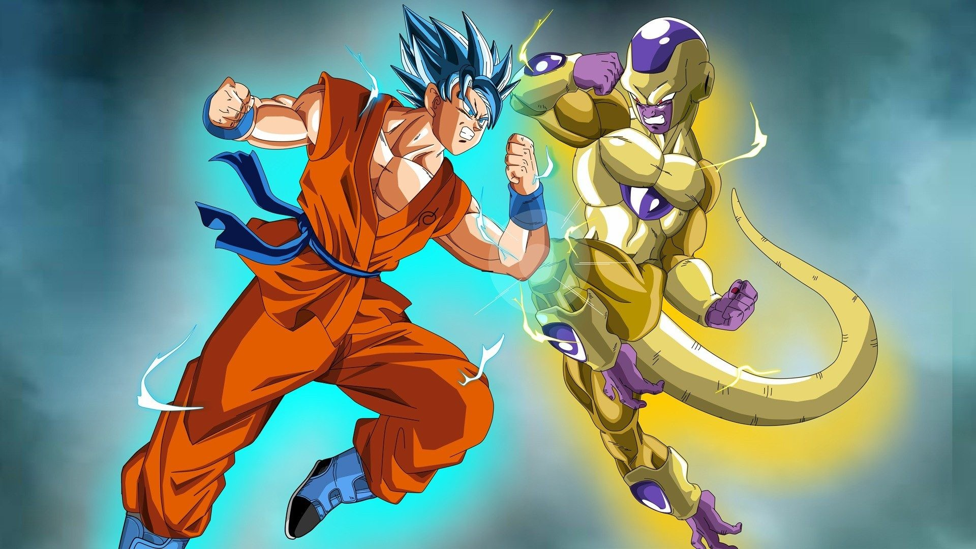 Res: 1920x1080, Super Saiyan Blue Goku Vs Frieza Wallpaper