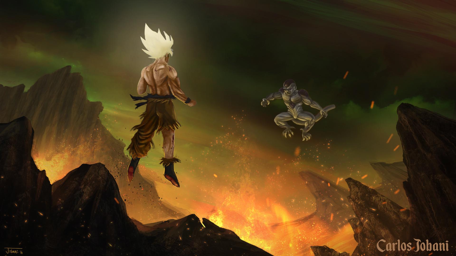 Res: 1920x1080, ... Dragon Ball Goku vs Frieza by Rikud0k0