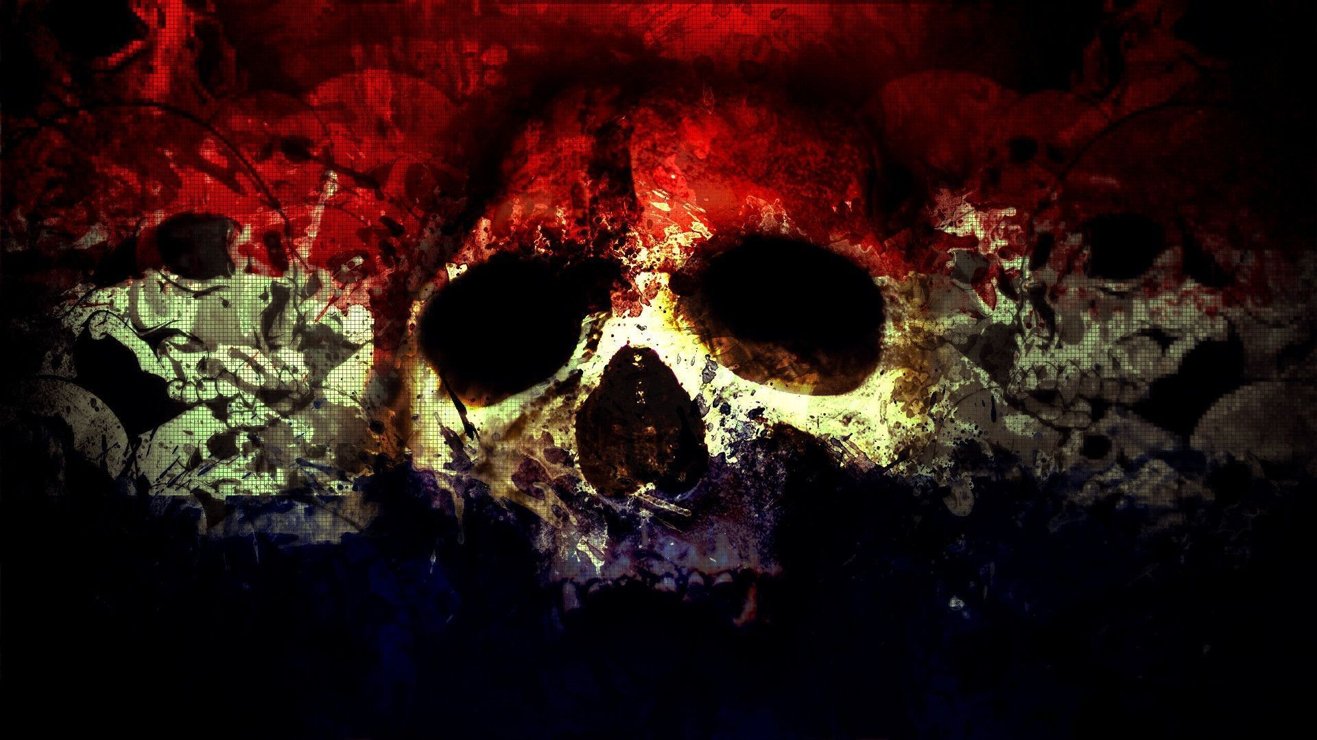 Res: 1920x1080, SKULL WITH BANDANA D and CG Abstract Background Wallpapers on 2560×1440 Red  And Black Skull Wallpapers (44 Wallpapers) | Adorable Wallpapers