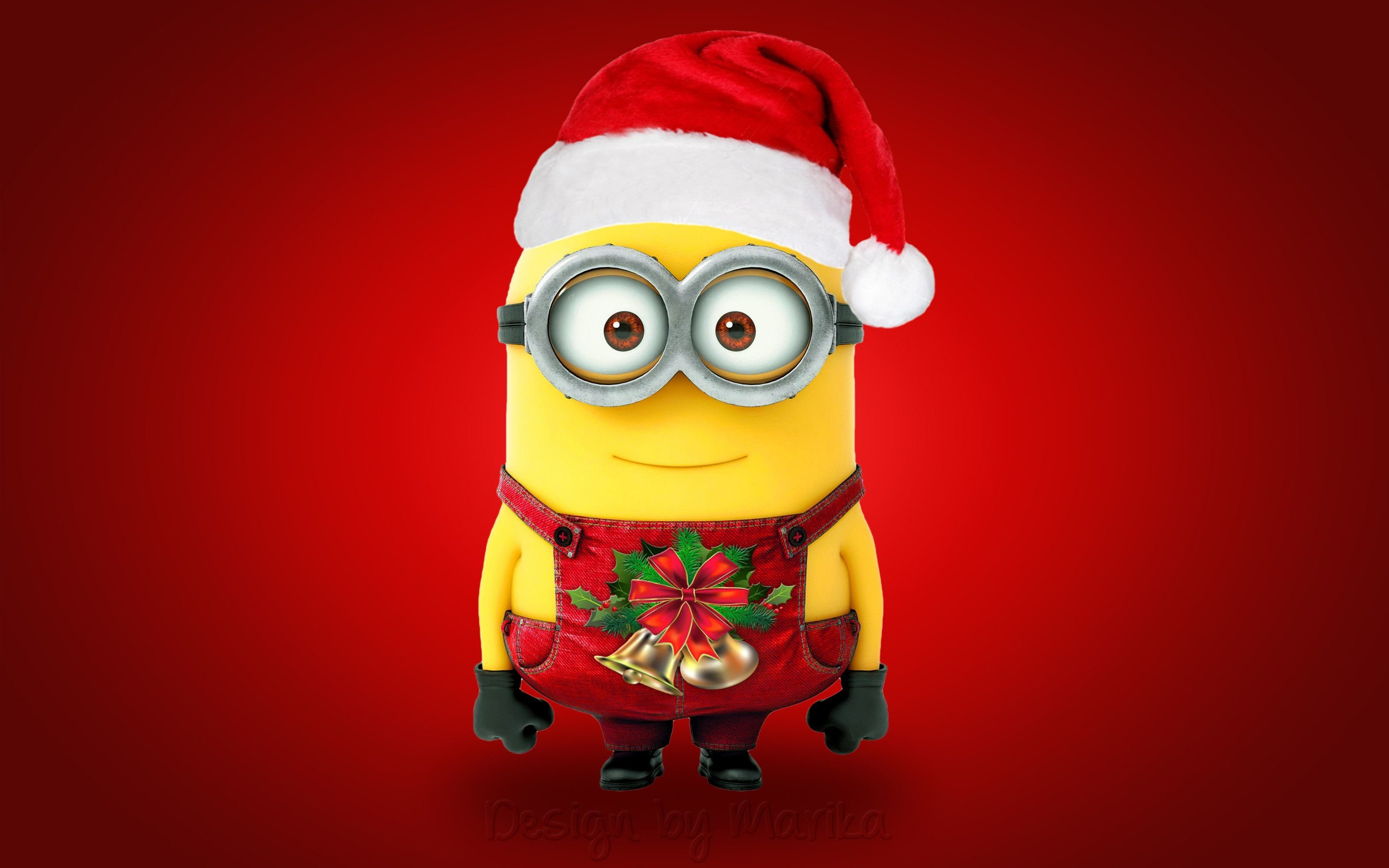 Res: 2880x1800, Merry Christmas Minions wallpaper mouse pad computer mousepad: Heat  Transforming Printing Technology made the picture is vivid,Easy cleaning,No  Fade