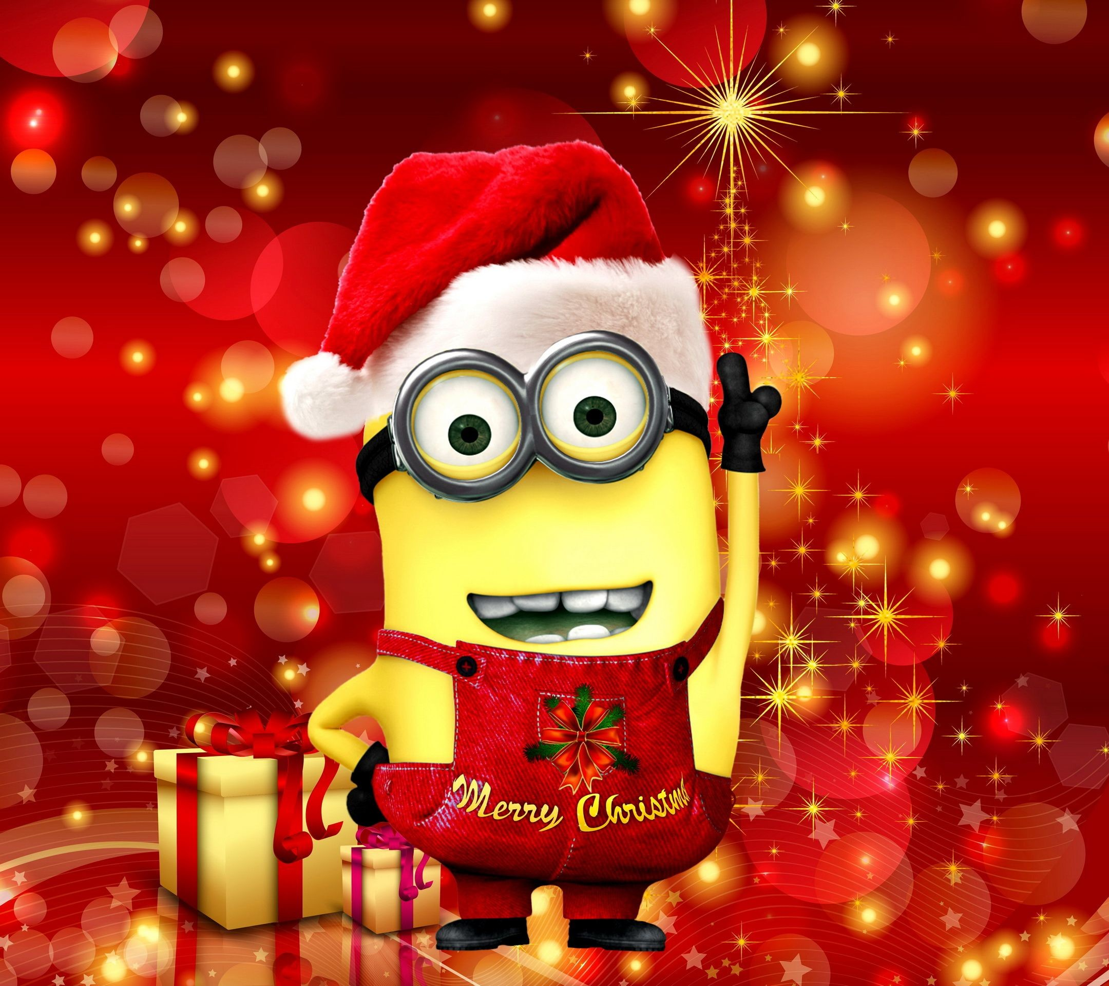 Res: 2160x1920, Merry Christmas minions images