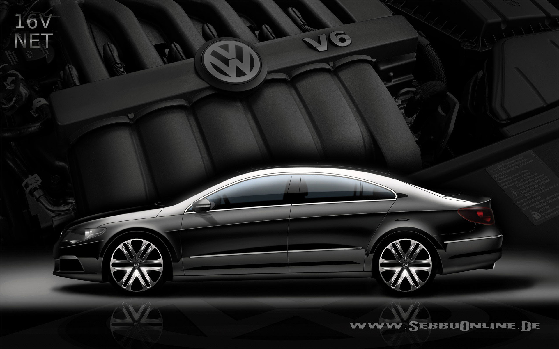 Res: 1920x1200, VW Passat CC V6 Wallpaper