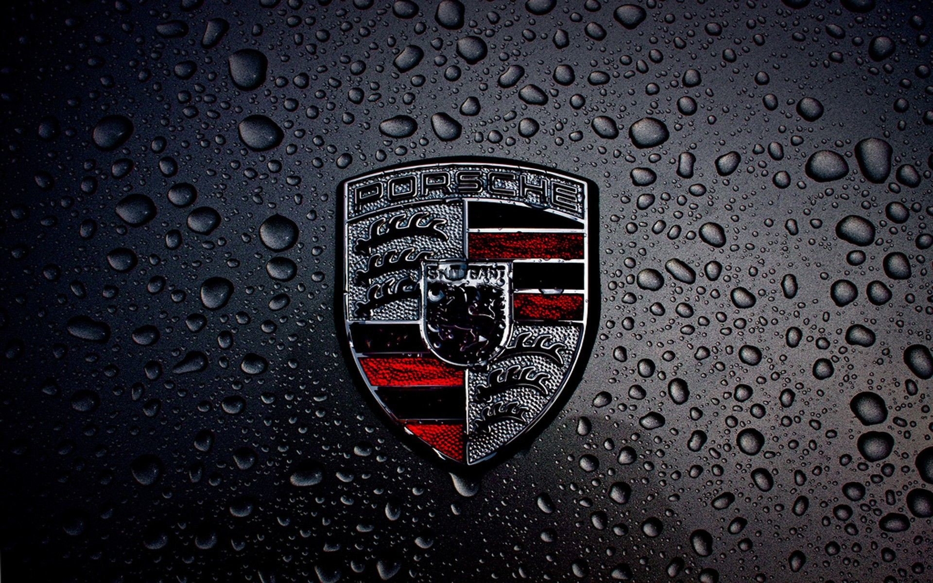 Res: 1920x1200, Dark Porsche Logo HD Wallpaper for Desktop and iPad