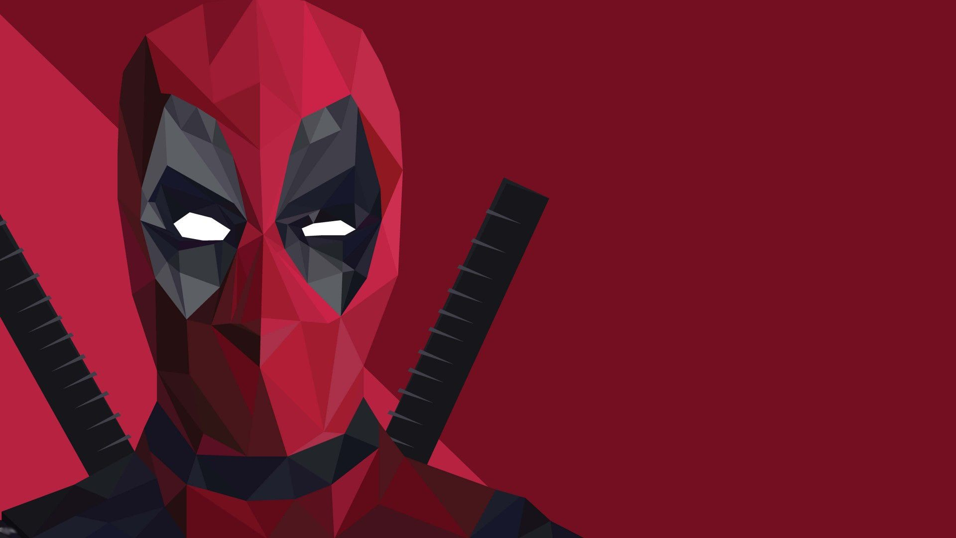 Res: 1920x1080, Deadpool Low Poly Wallpaper HD