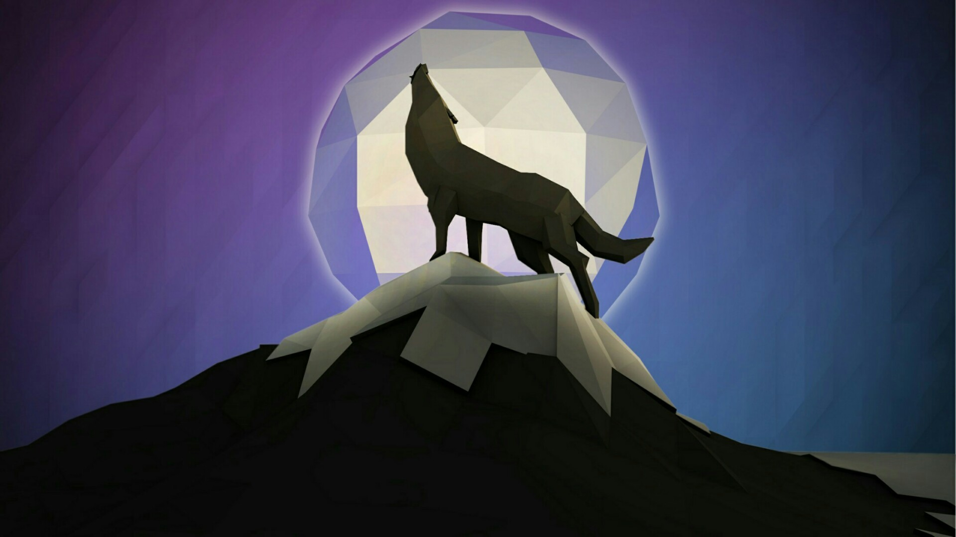 Res: 1920x1080, Low Poly Wolf Art Wallpaper   Wallpaper Studio 10   Tens of thousands HD  and UltraHD wallpapers for Android, Windows and Xbox