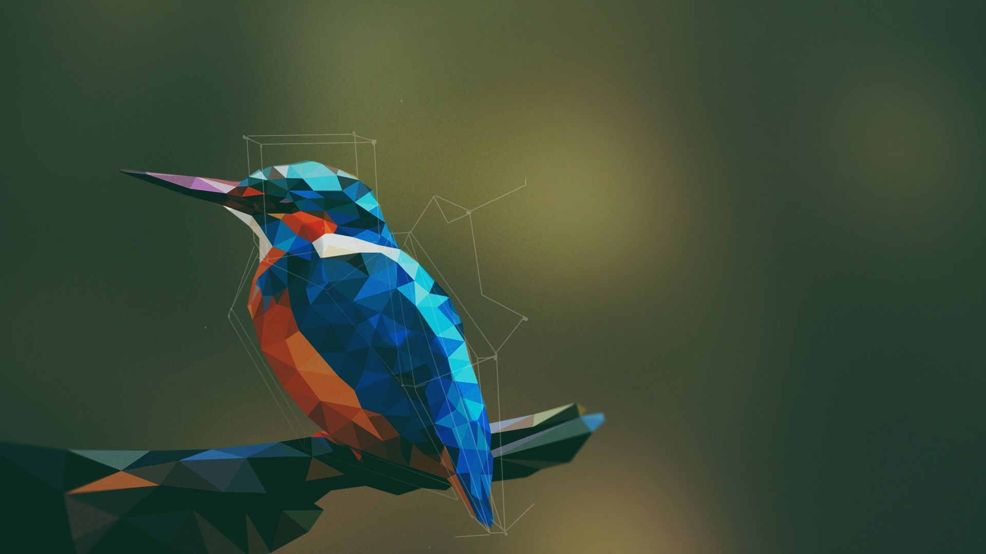Res: 1920x1080, A low poly style art,