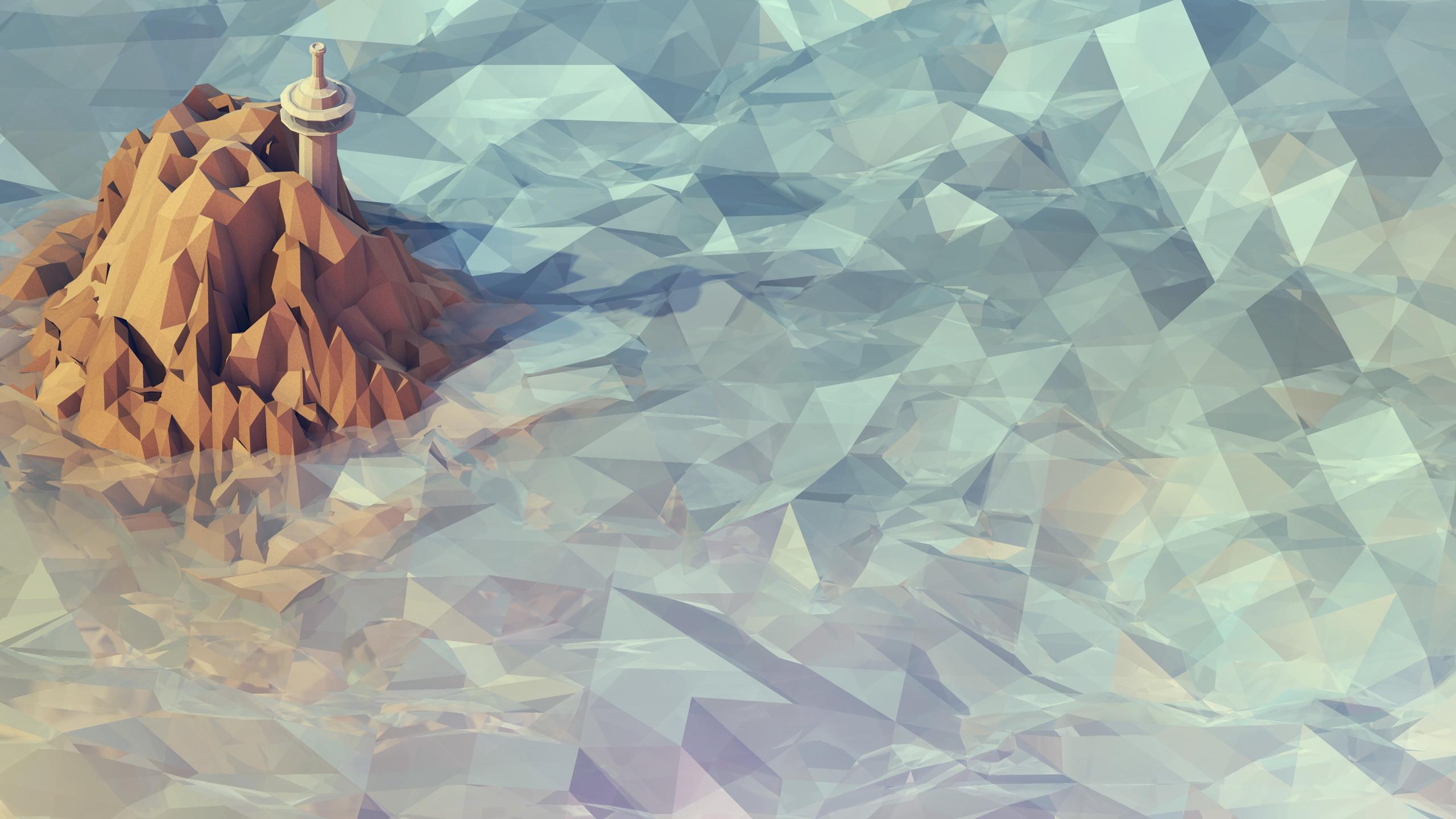 Res: 2560x1440, Polygon Wallpaper 22