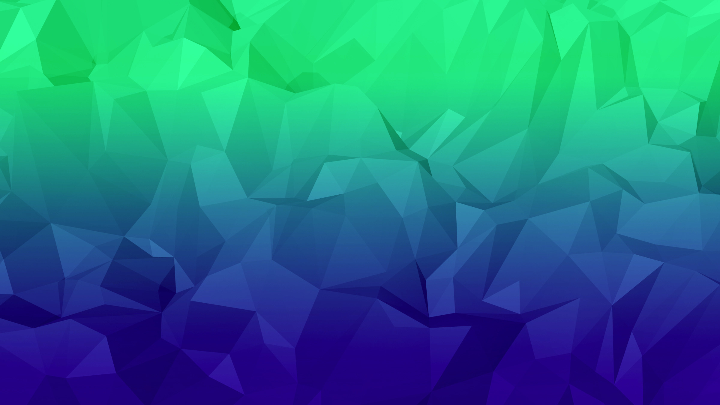 Res: 2400x1350, ... Blue-Green Low Poly Wallpaper by nordicstew