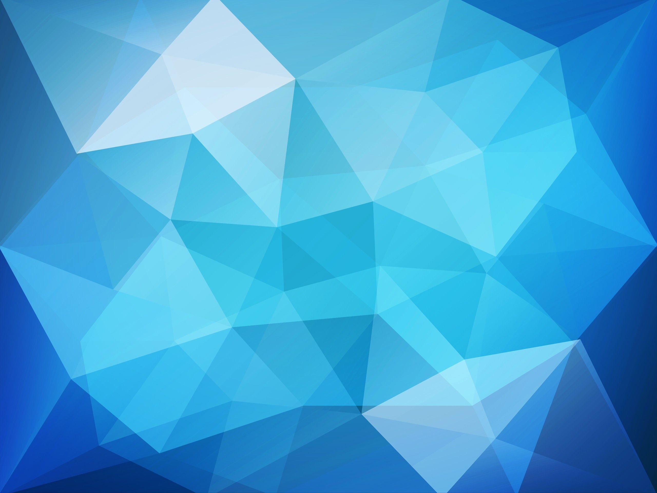 Res: 2560x1920, Blue Low Poly Wallpaper