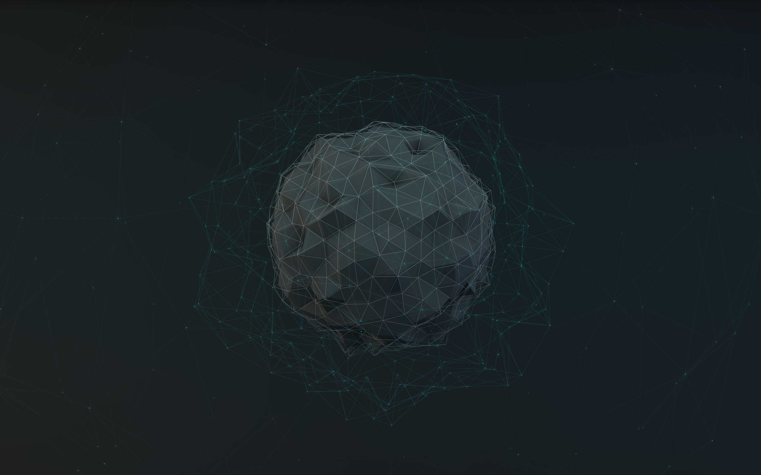 Res: 2560x1600, spheres 3D low poly - Wallpaper (#2786938) / Wallbase.cc