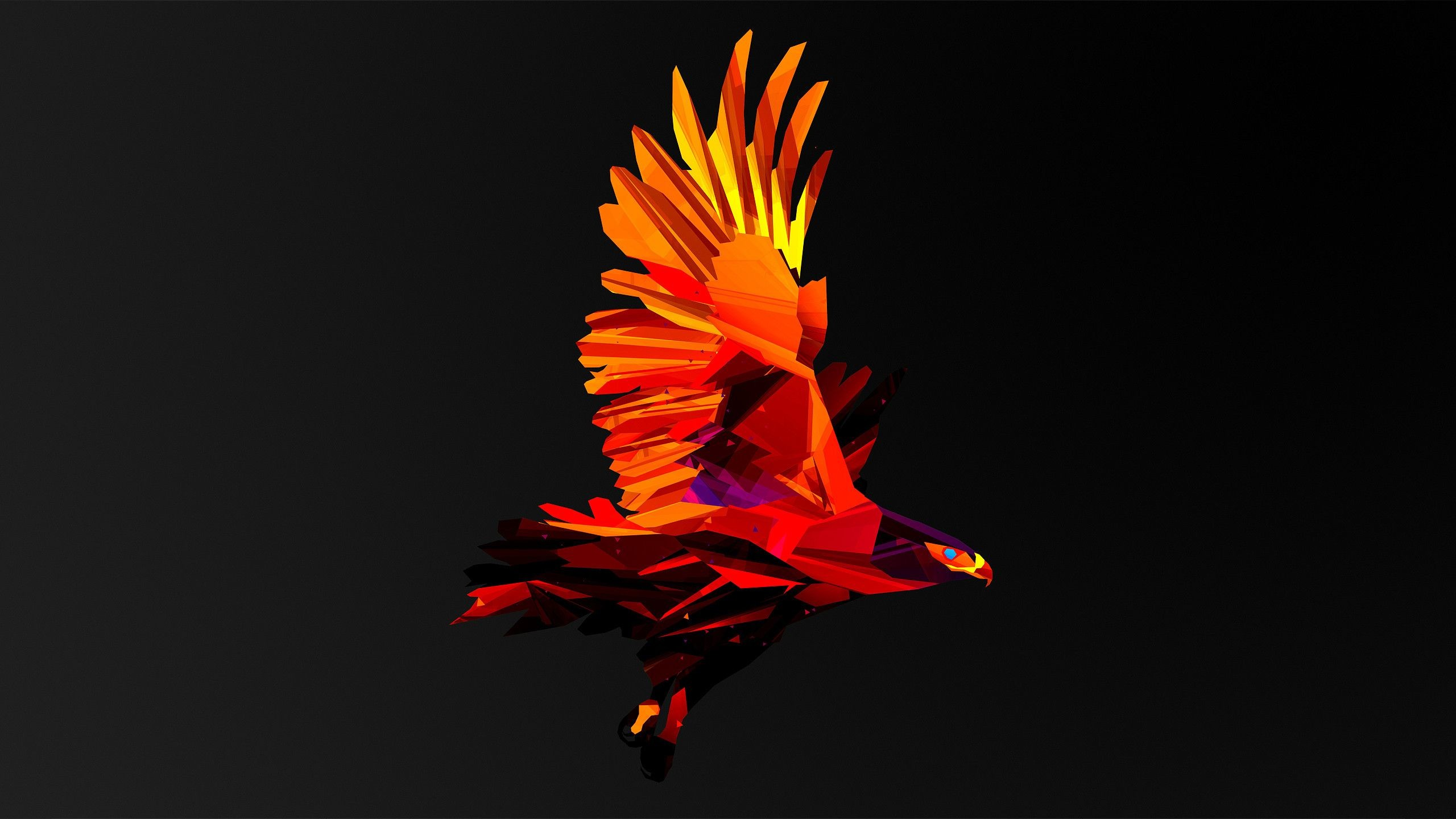 Res: 2560x1440, Low Poly Hawk HD Wallpaper Â« Destkop BackgroundsDestkop Backgrounds