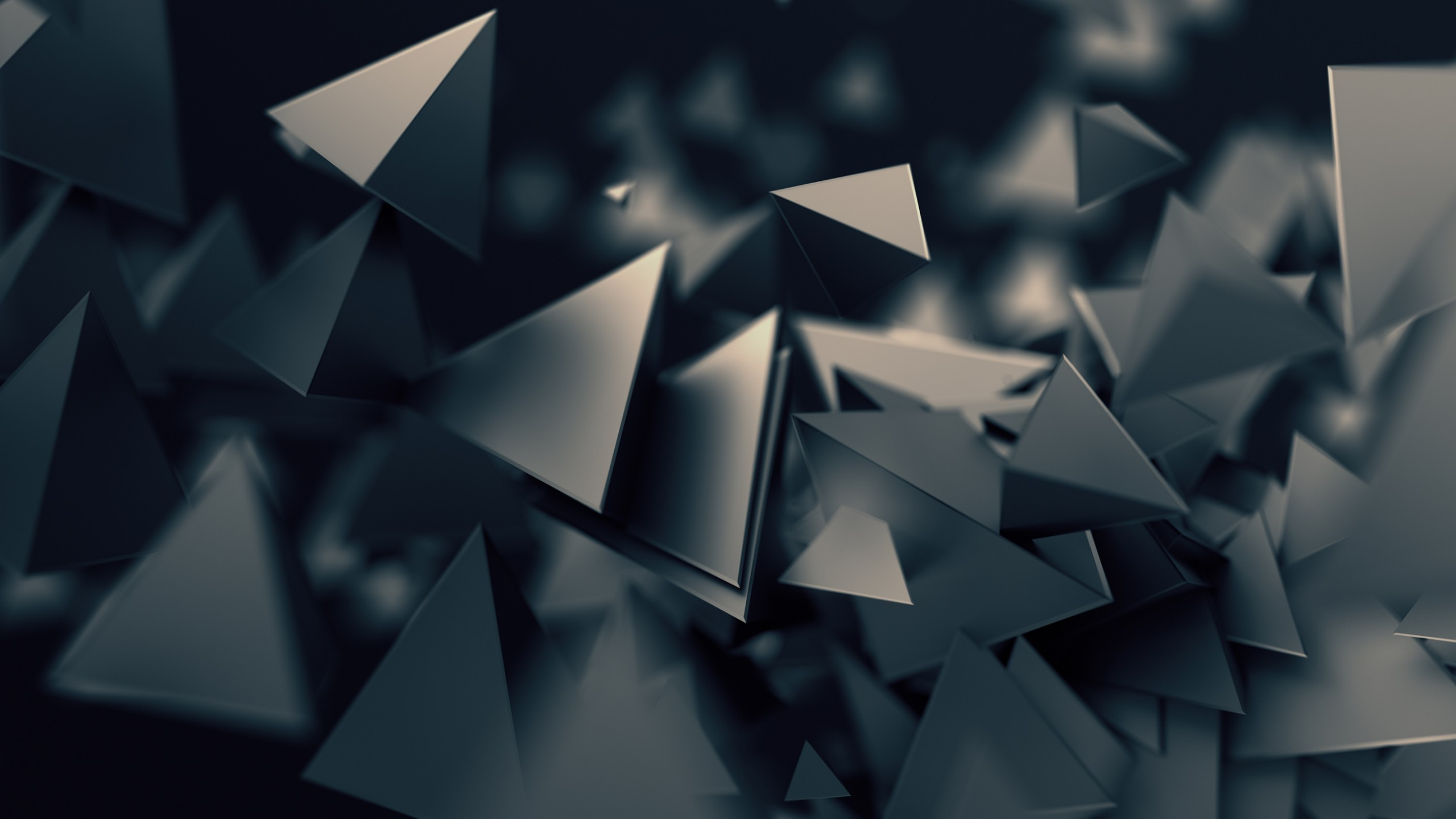 Res: 2560x1440, Abstract / Triangles Wallpaper