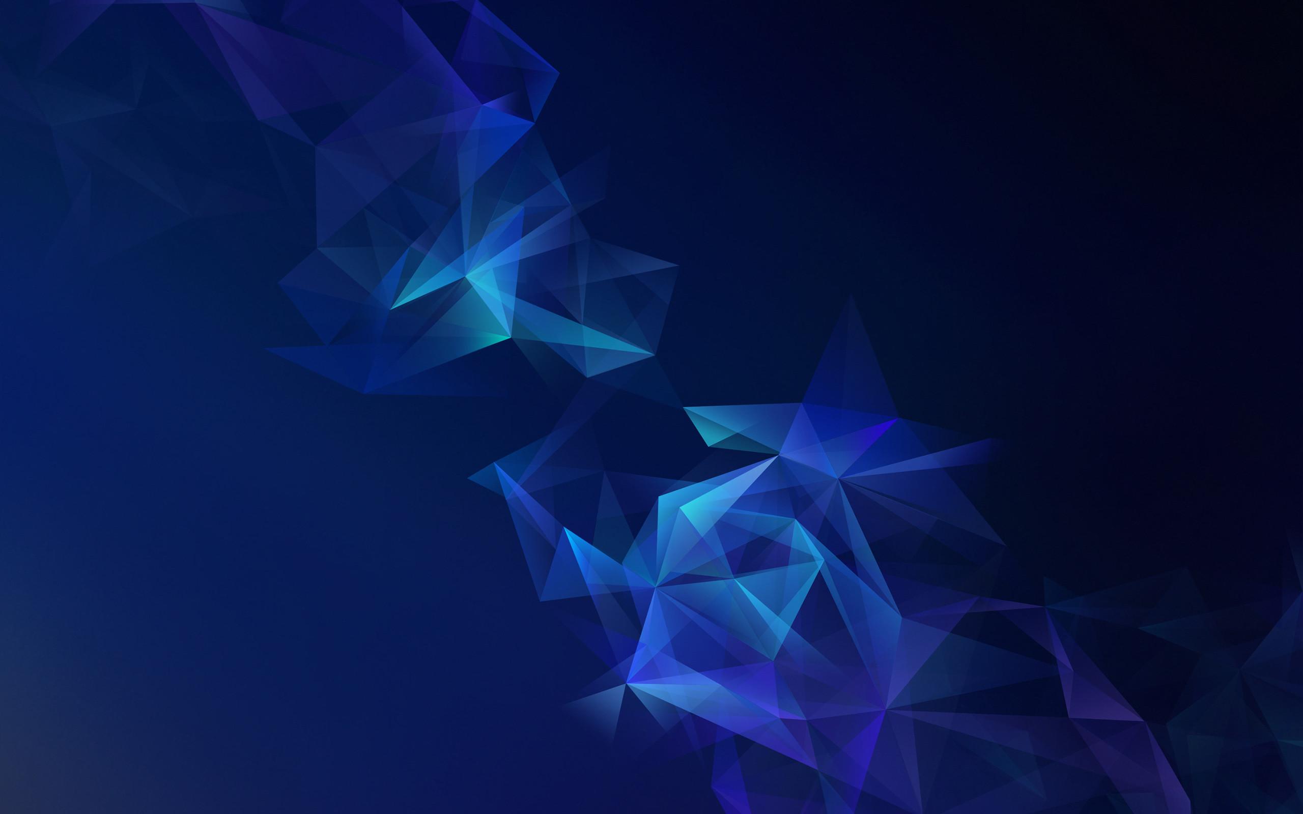 Res: 2560x1600, Tags: Blue Galaxy Samsung Lowpoly
