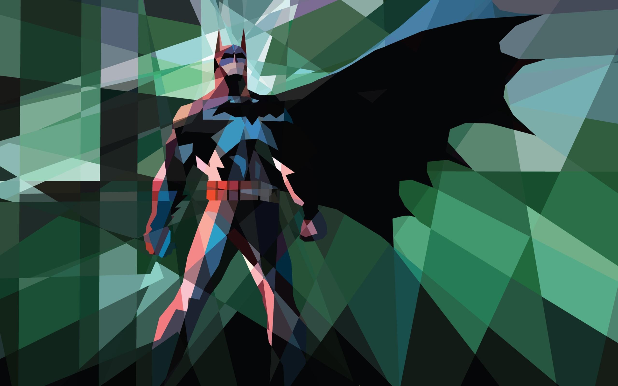 Res: 2560x1600, Batman_comics_superheroes_iPad_low_poly_