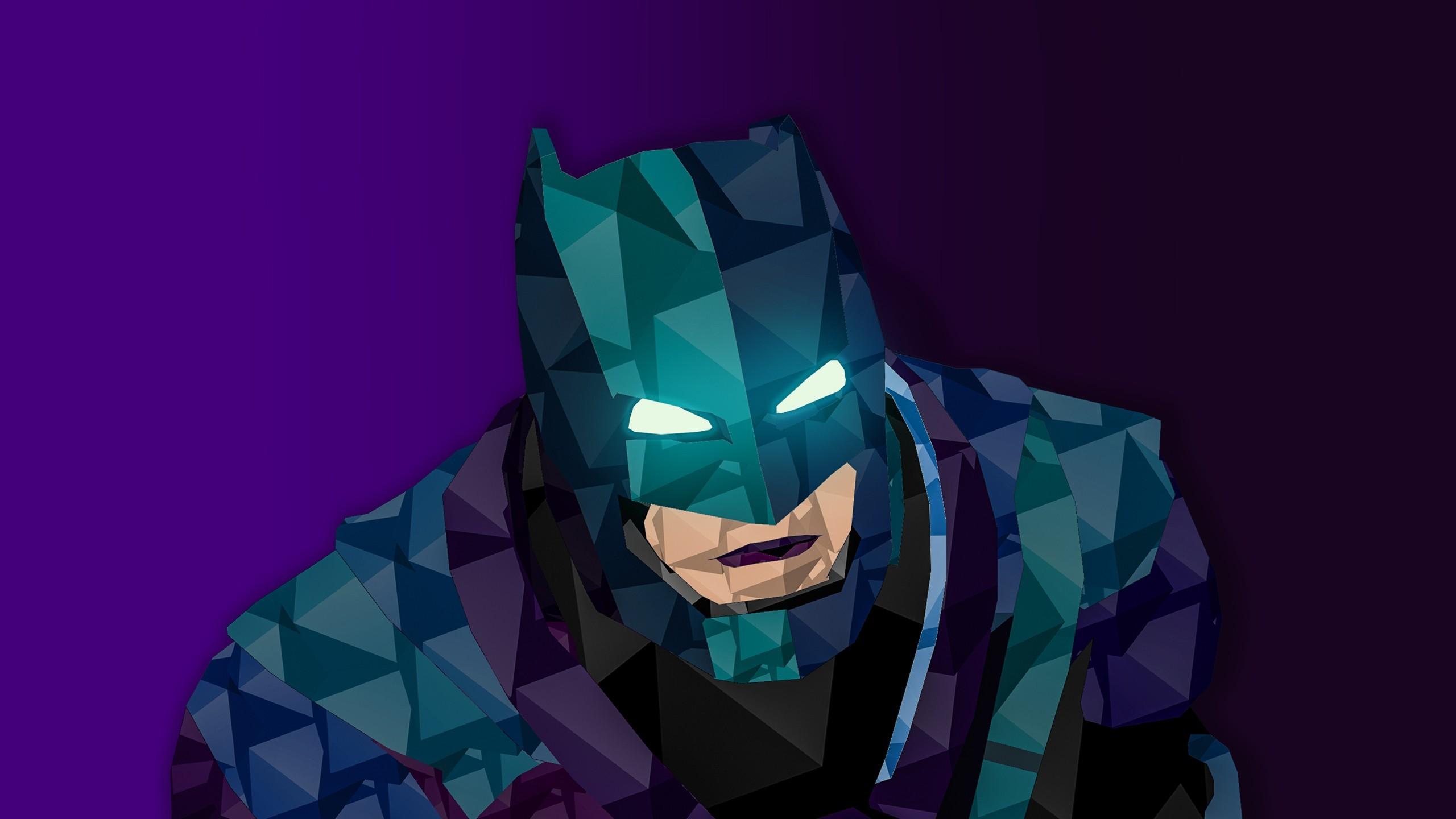 Res: 2560x1440, batman batman v superman dawn of justice dc comics low poly digital art  wallpaper and background