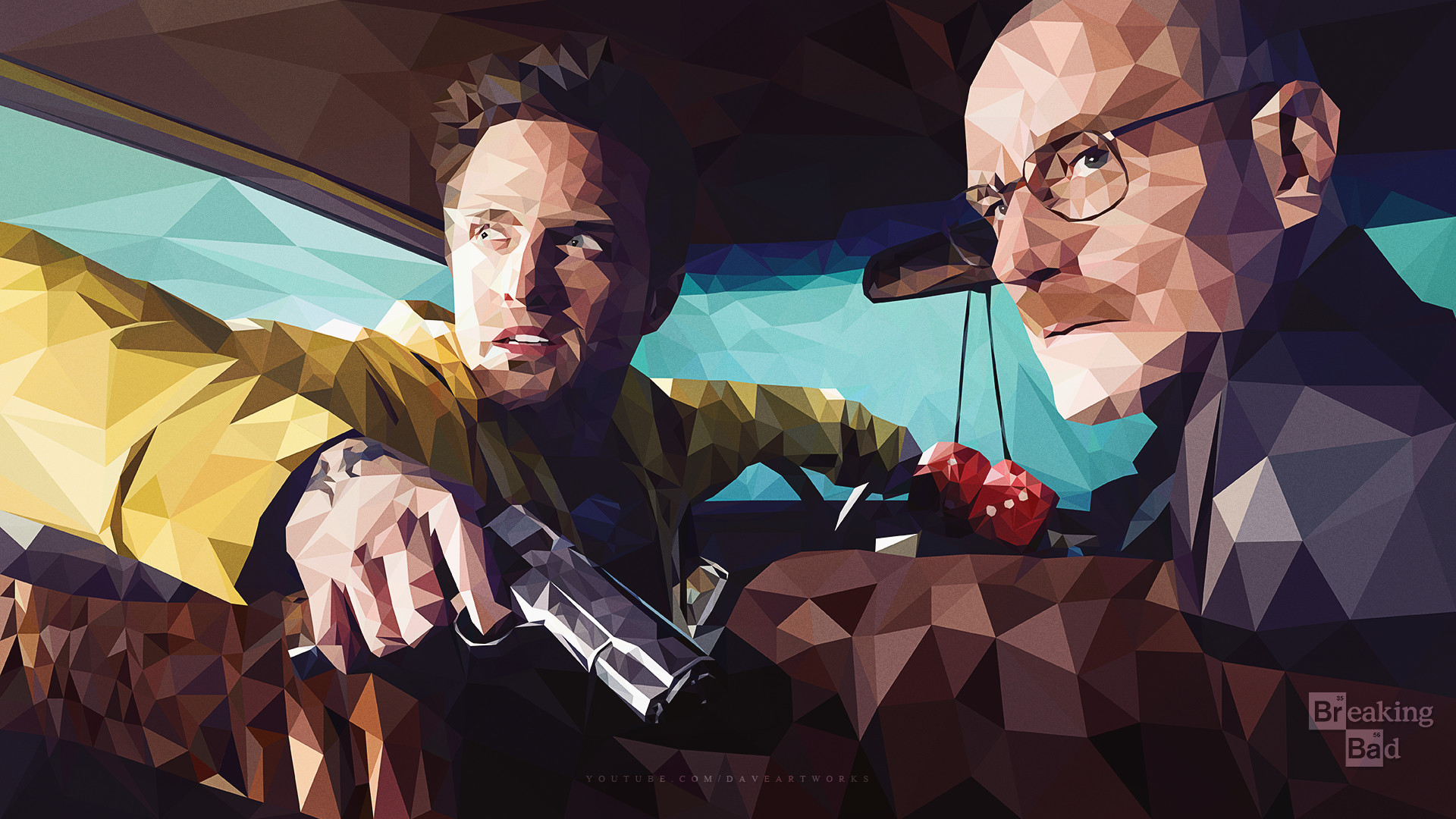 Res: 1920x1080, ... Breaking Bad - Low-Poly - Wallpaper by DaveArtworks