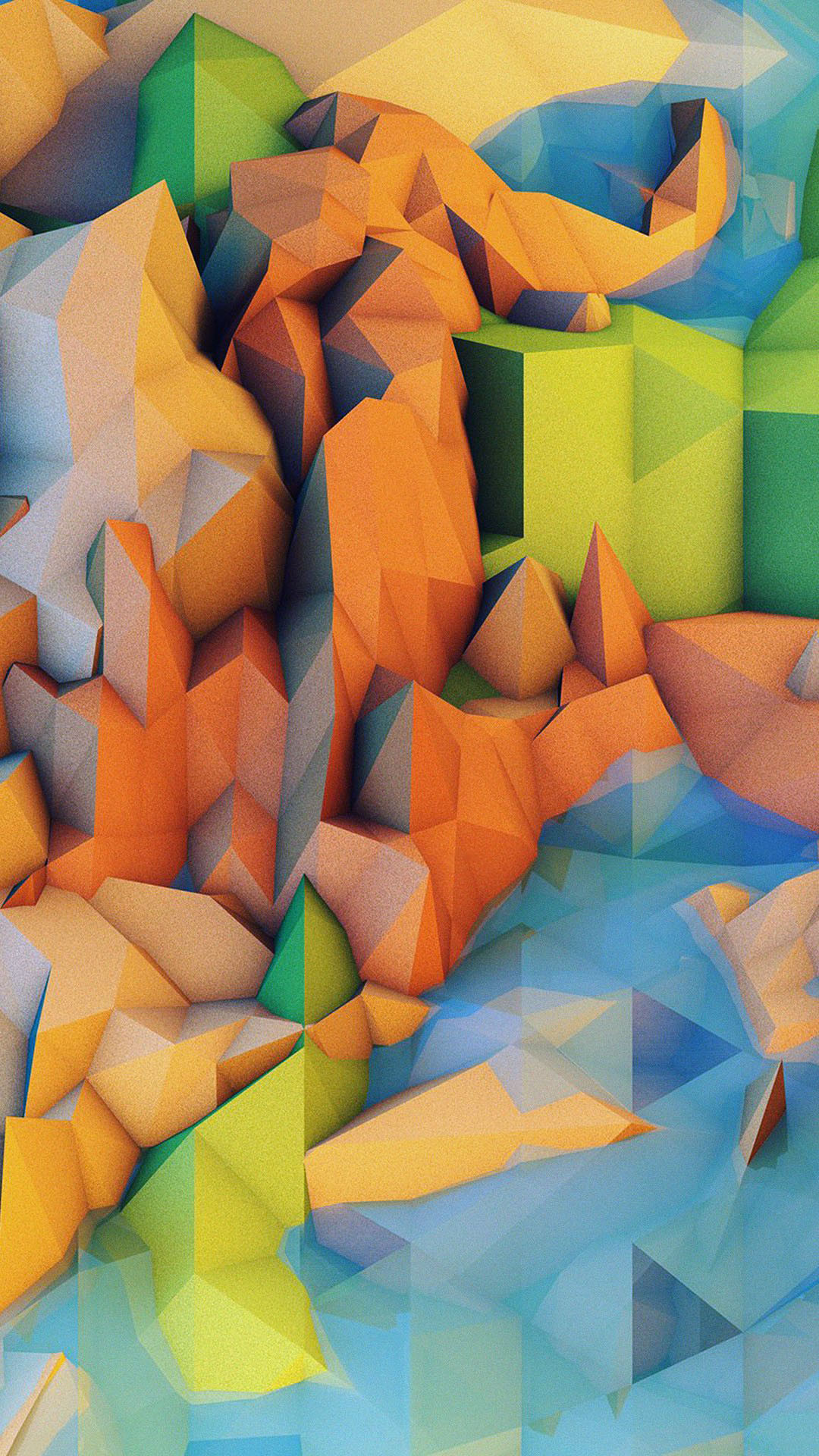 Res: 1080x1920, Low Poly Mountains CGI Android Wallpaper ...