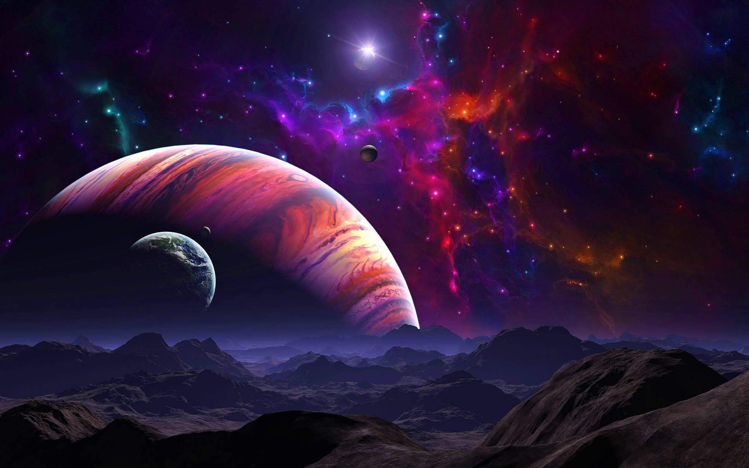 Res: 2560x1600, Sci Fi - Planetscape Wallpaper