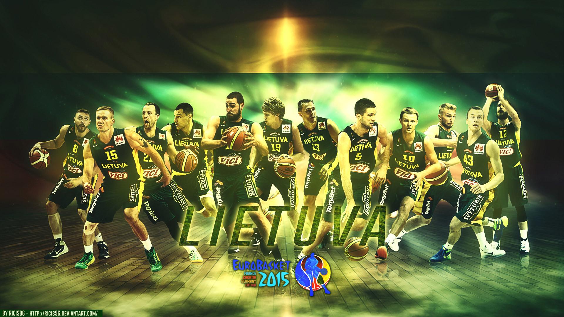 Res: 1920x1080, Lithuania Team Eurobasket 2015 1920×1080 Wallpaper