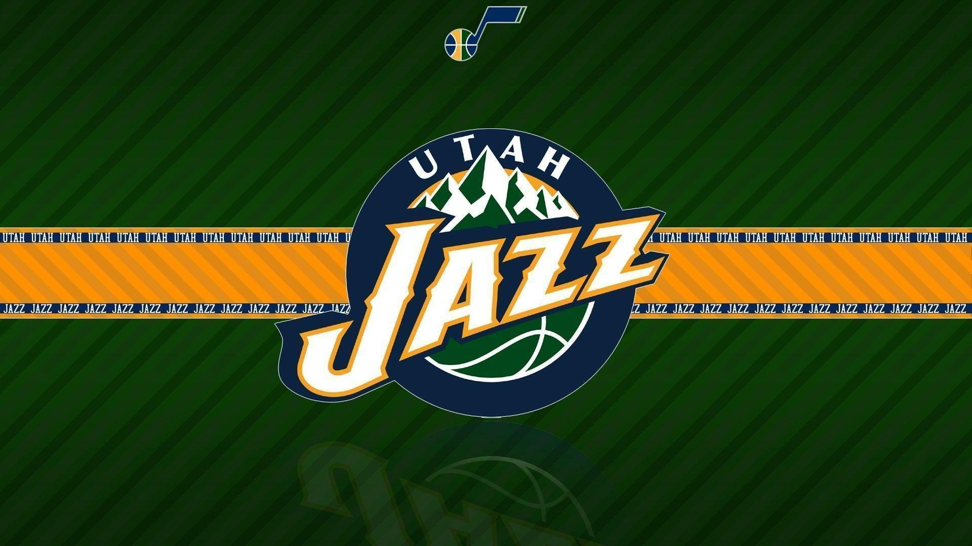 Res: 1920x1080, Utah Jazz Logo Yellow | NBA Team Logos Wallpapers 2016 - Wallpaper Cave