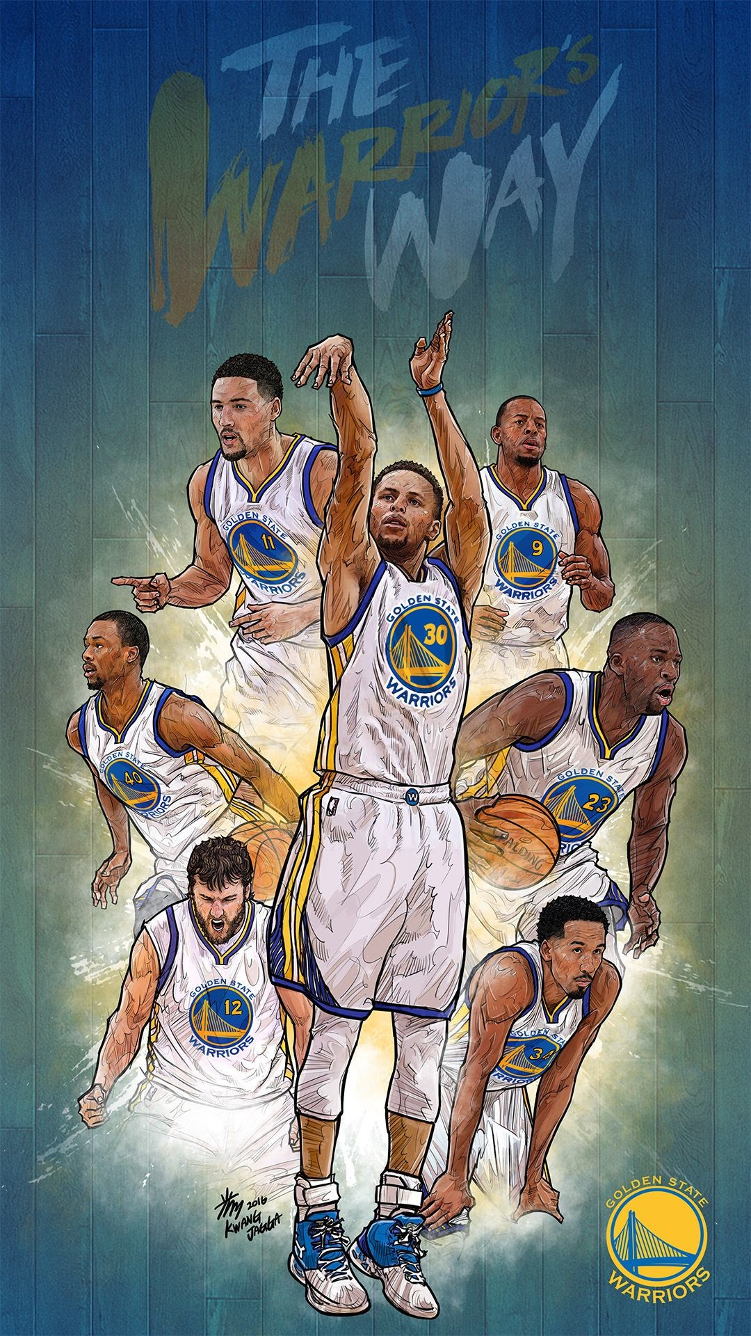 Res: 1080x1920, NBA Phone Wallpaper - Artist: Kim MinSuk (김민석) #Yellowmenace #basketballart  #