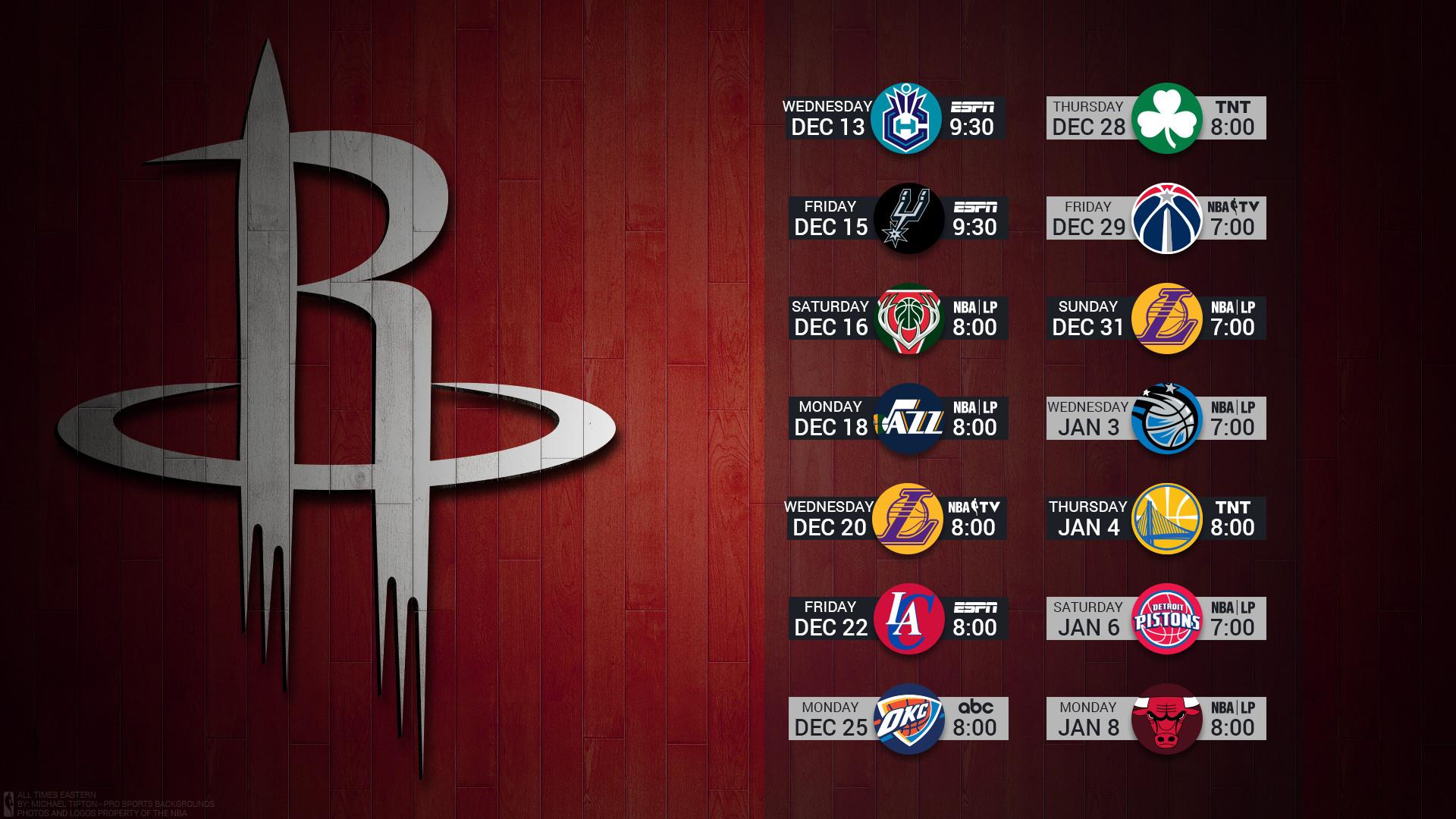 Res: 1920x1080, Houston Rockets 2017 nba basketball team logo december schedule hardwood  wallpaper free on mac and desktop