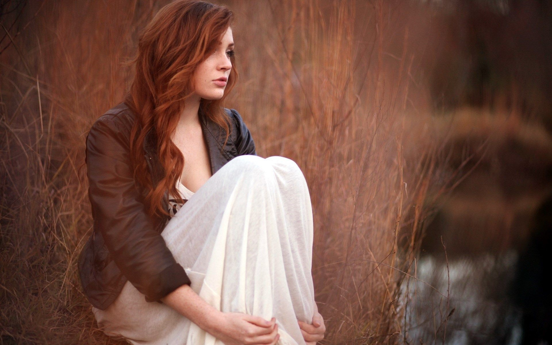 Res: 1920x1200, Sad And Lonely Redhead Girl HD | HD Models Wallpaper Free Download ...
