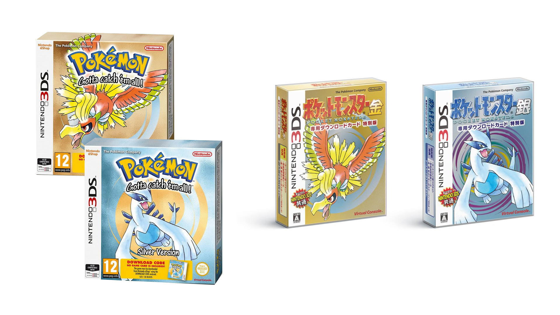 Res: 1920x1080, Pokémon Gold and Silver physical packaging announced for Europe and Japan