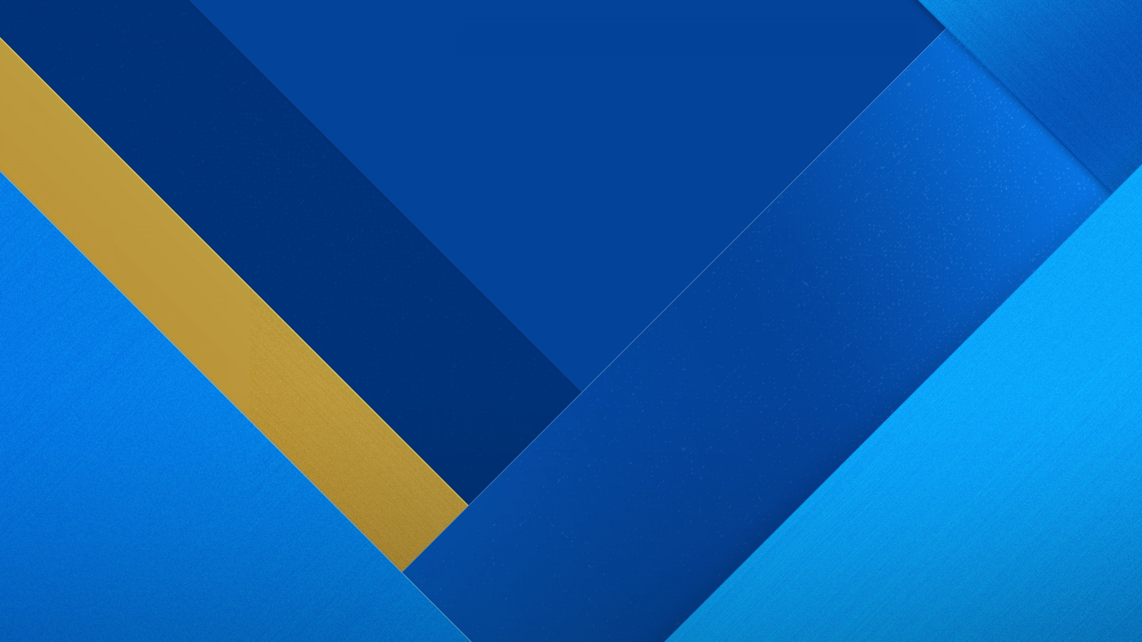 Res: 3840x2160, Geometric, Material design, Stock, Blue, HD