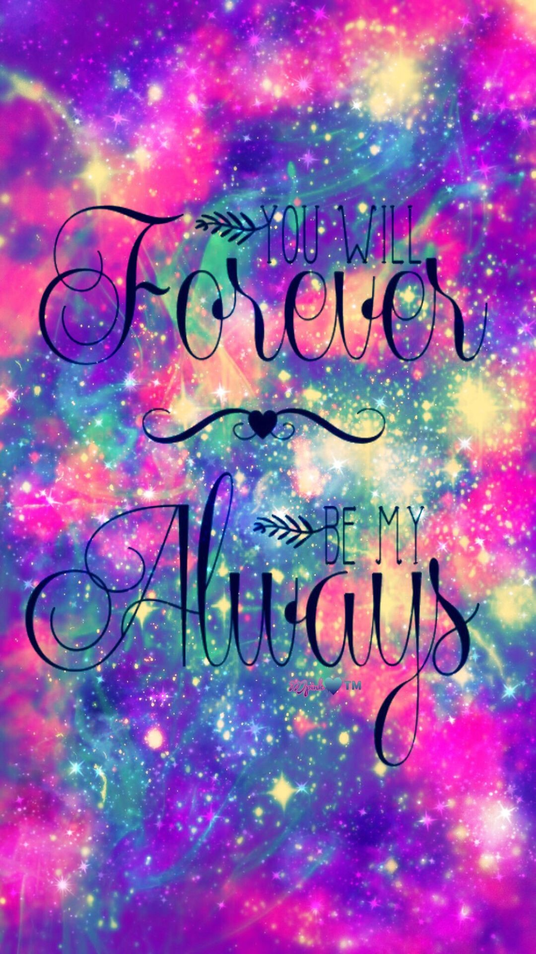 Res: 1080x1920, Forever & Always Galaxy Wallpaper #androidwallpaper #iphonewallpaper # wallpaper #galaxy #sparkle #