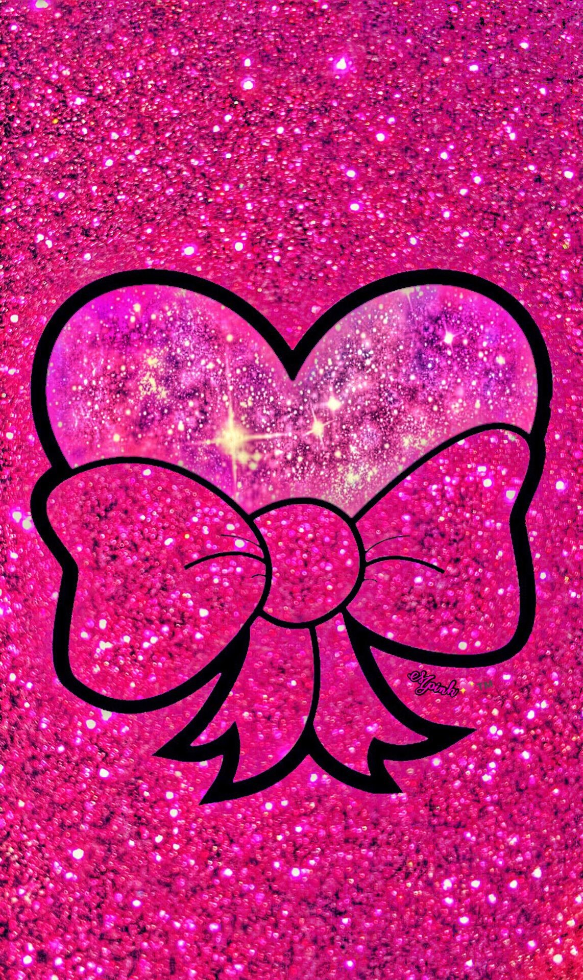 Res: 1142x1920, Pink Bling Heart Galaxy Wallpaper #androidwallpaper #iphonewallpaper # wallpaper #galaxy #sparkle #
