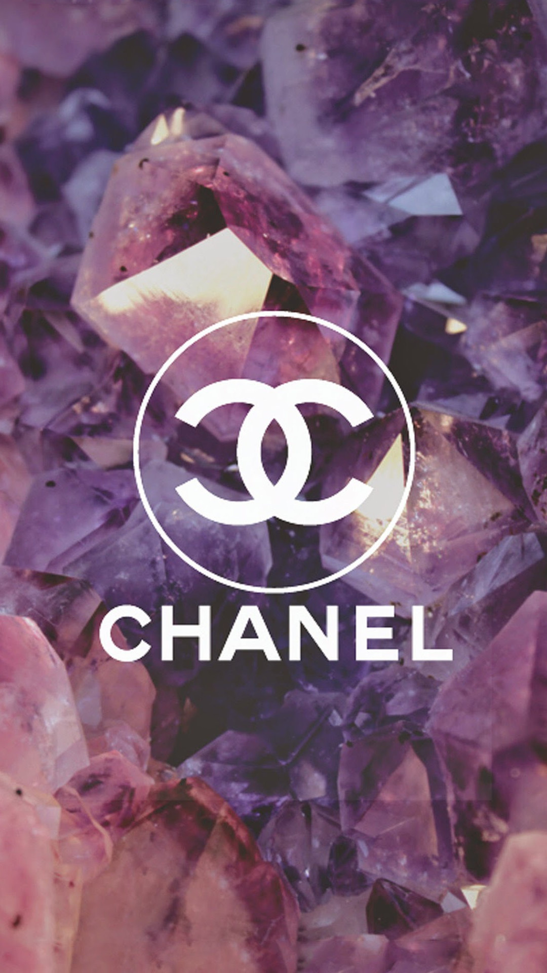 Res: 1080x1920,  Coco Chanel Logo Diamonds iphone 7 wallpaper.